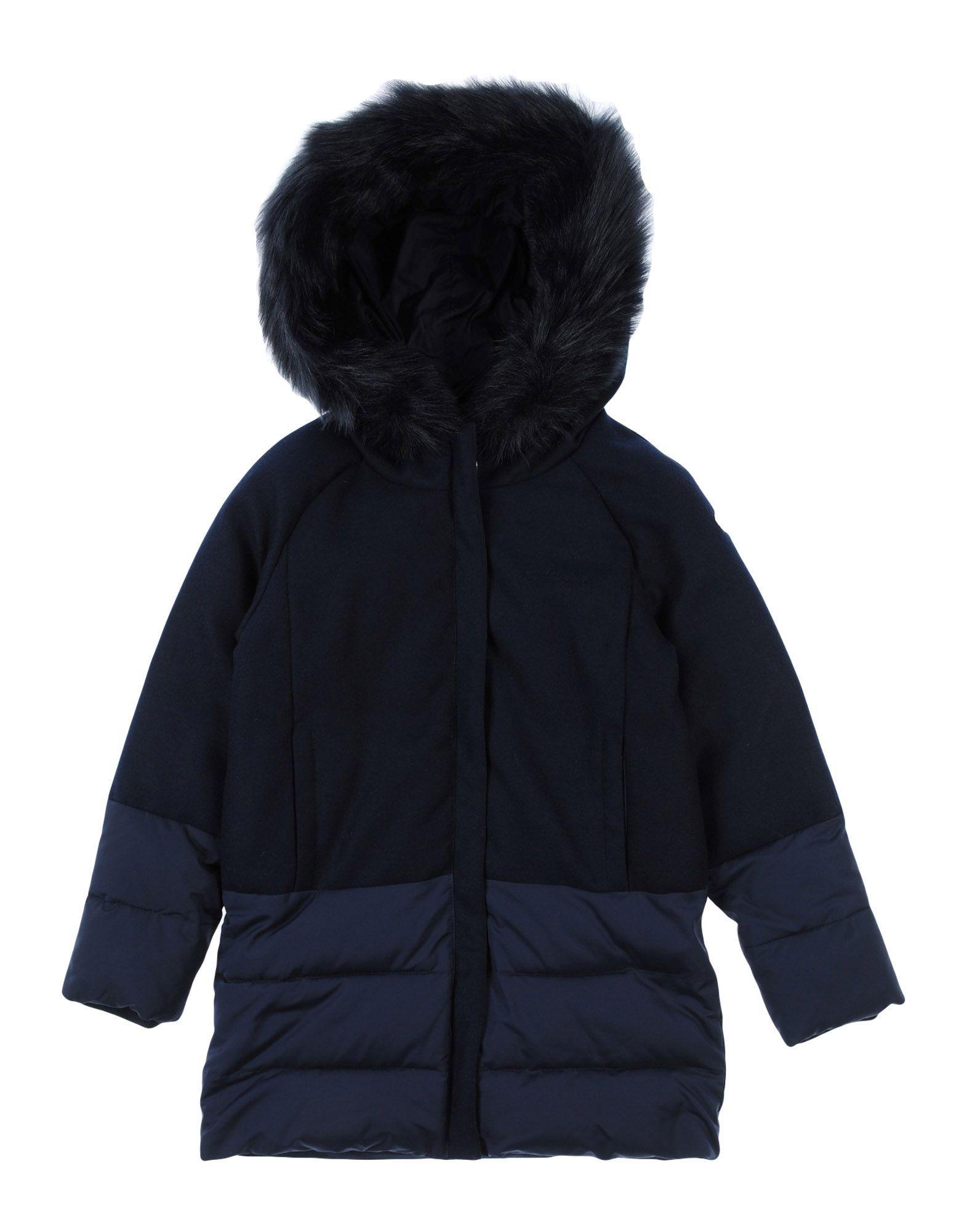 COATS & JACKETS Armani Junior Dark blue Girl Polyester