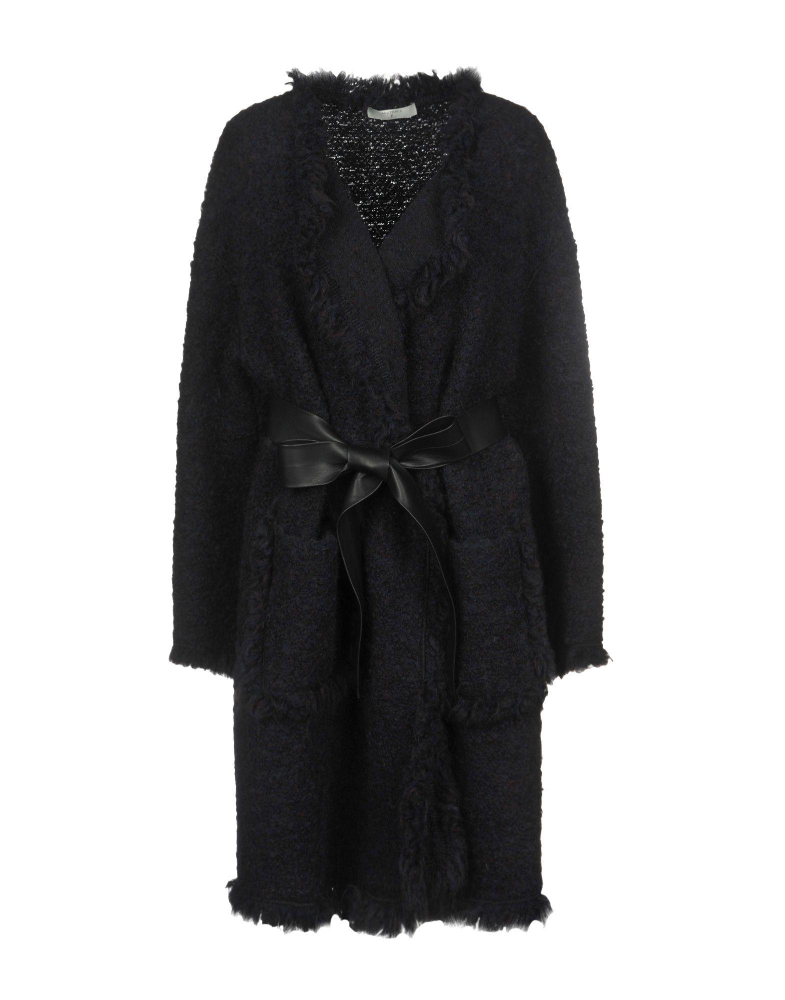 COATS & JACKETS Beatrice B Dark blue Woman Wool