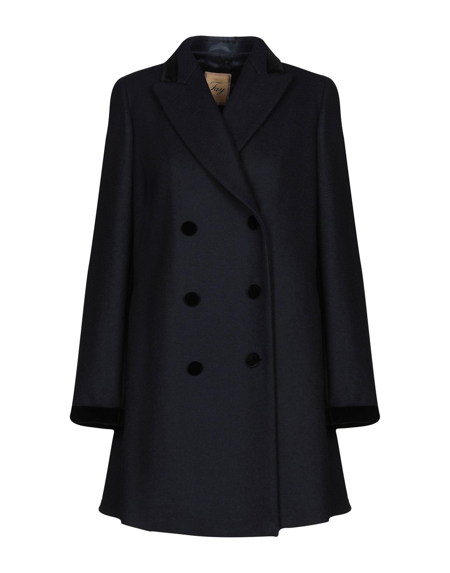 COATS & JACKETS Fay Dark blue Woman Wool