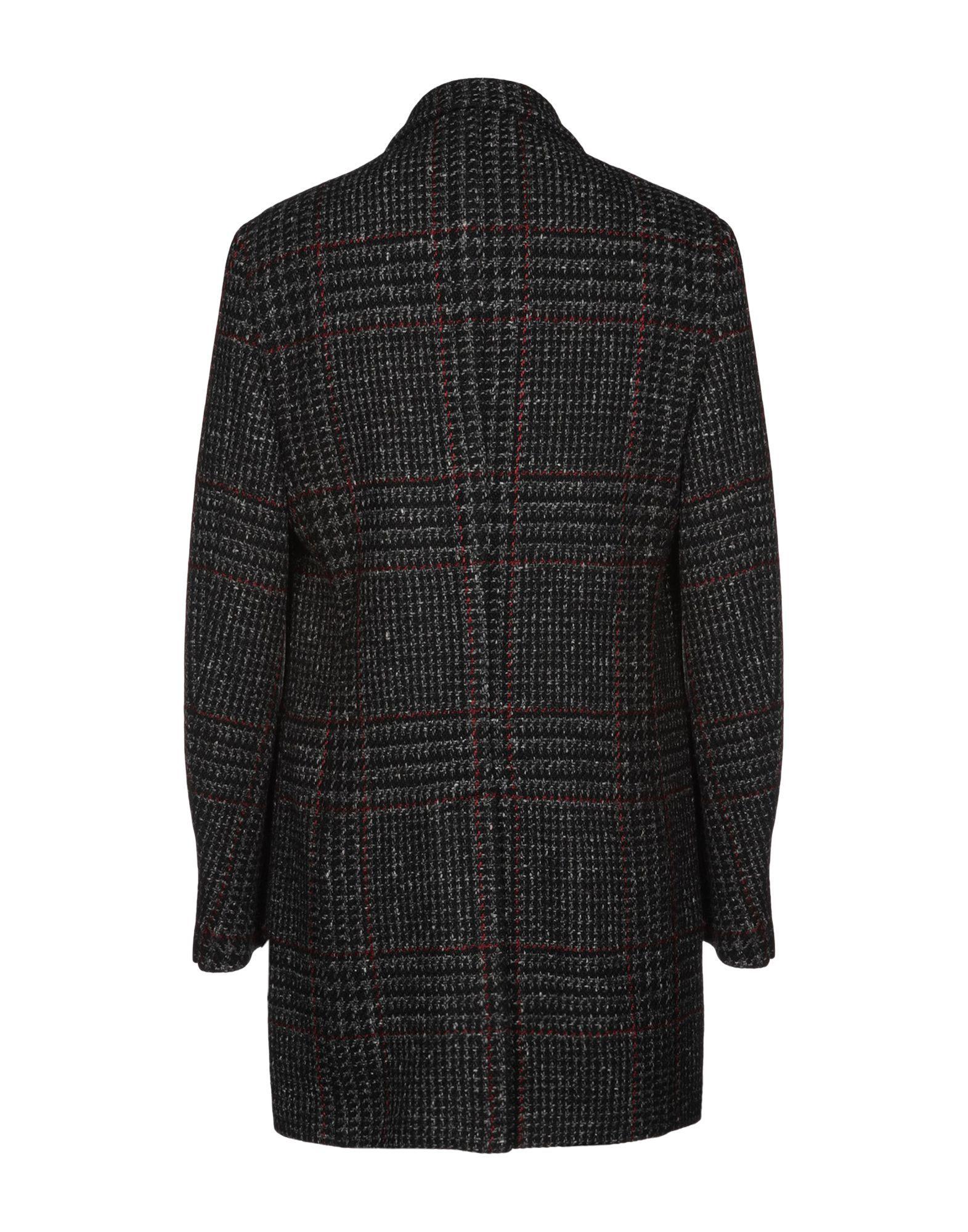 COATS & JACKETS Fay Black Man Wool