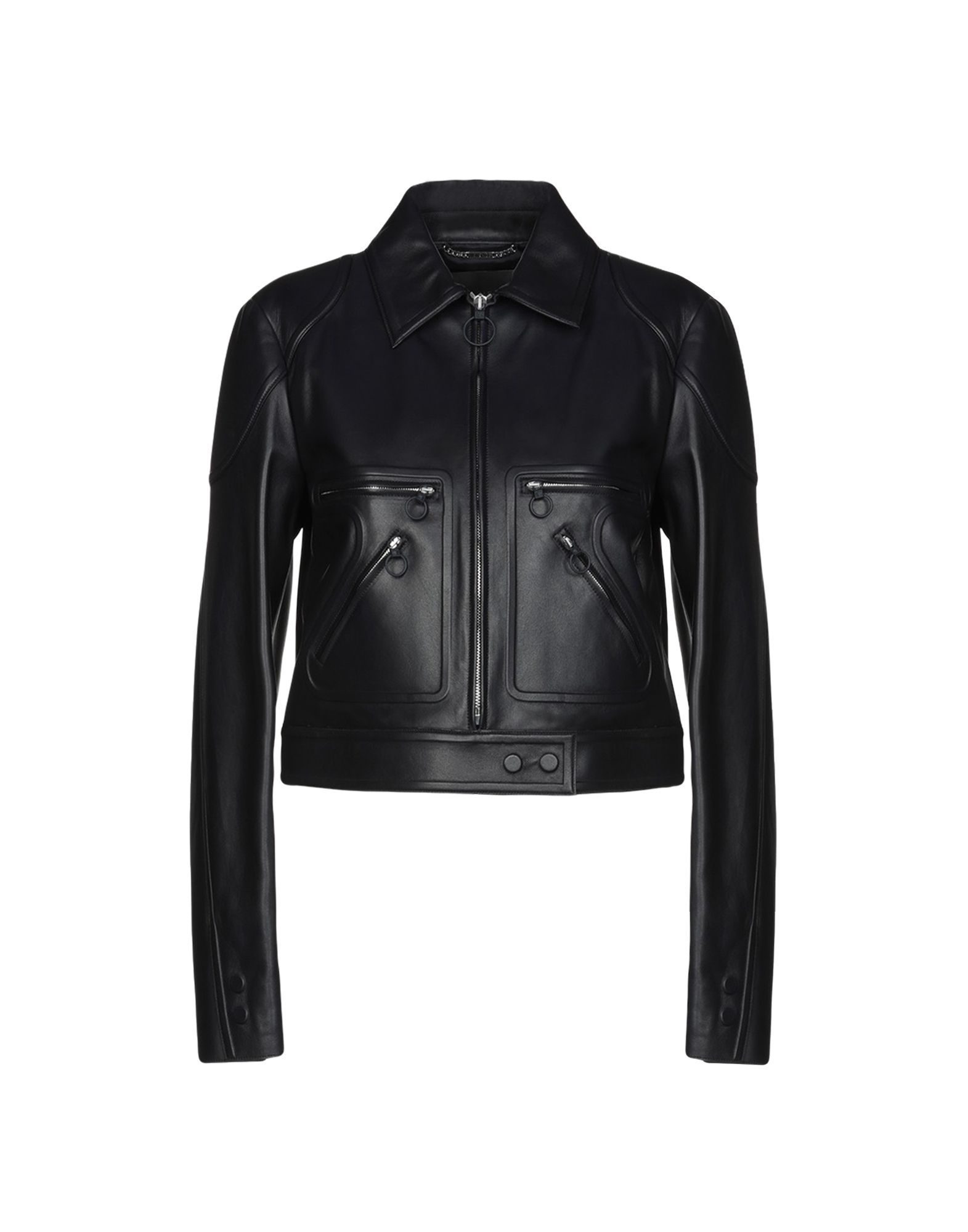 Versace Dark Blue Leather Jacket