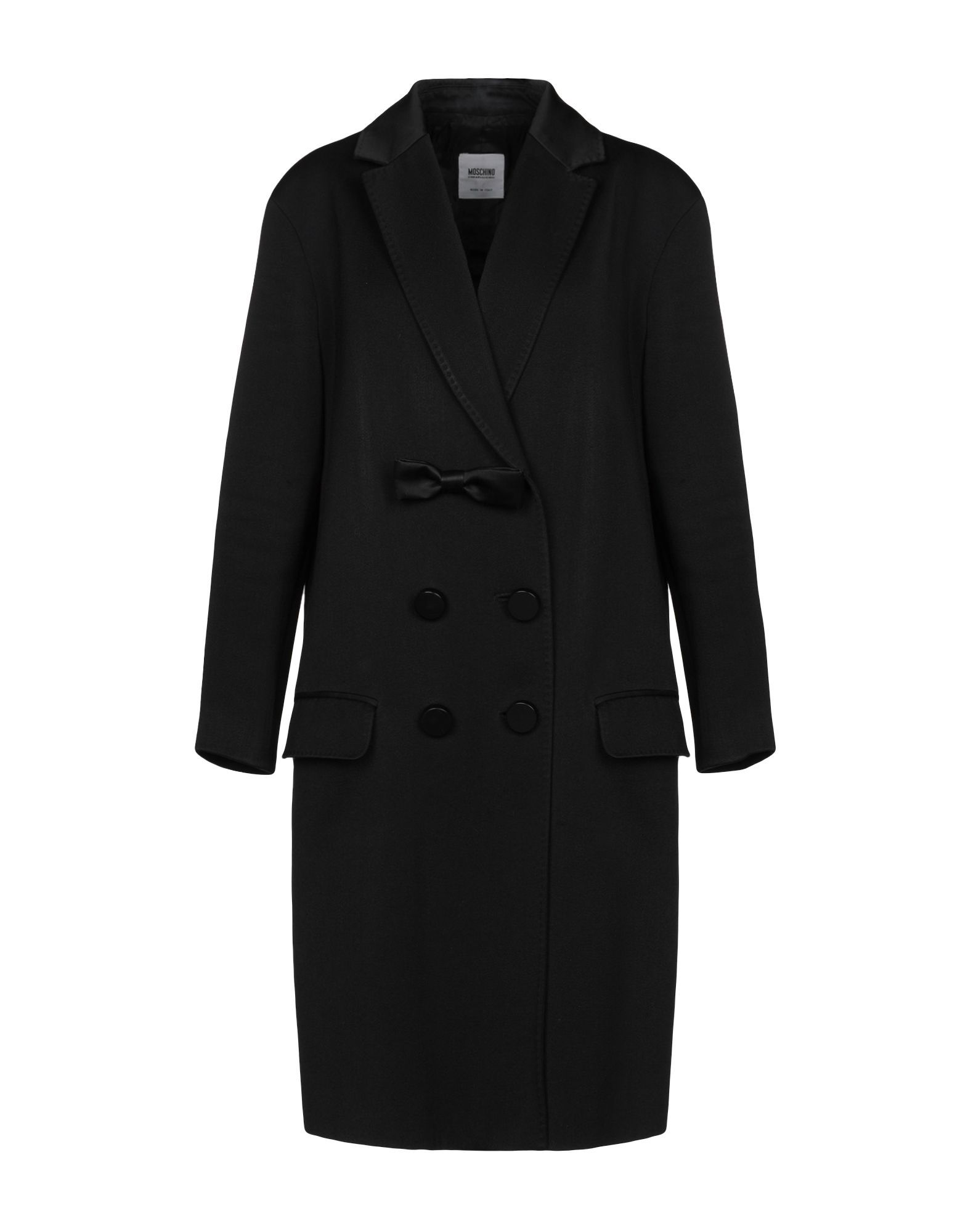 Moschino Cheap And Chic Black Wool Double Breasted Coat