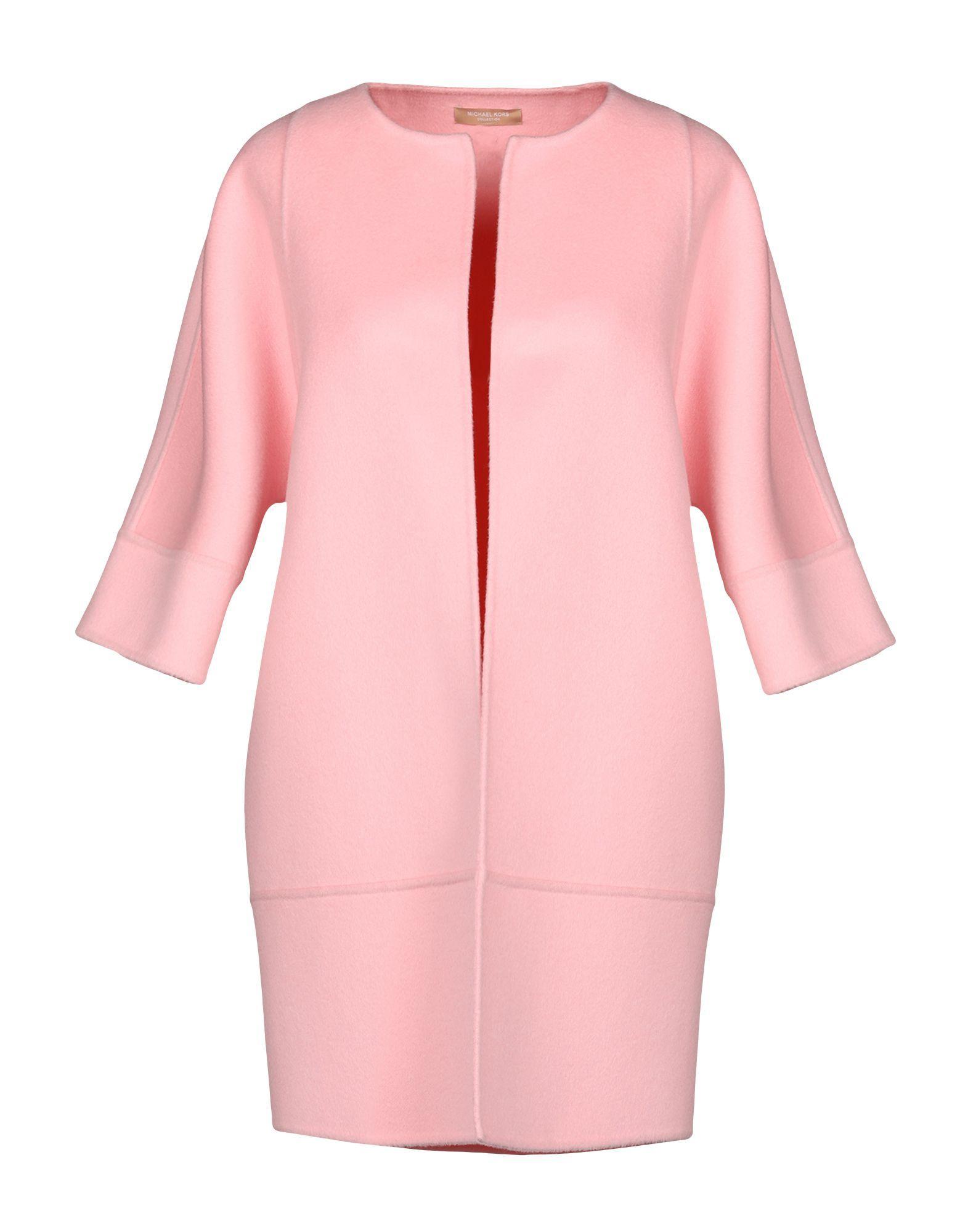 COATS & JACKETS Michael Kors Collection Pink Woman Virgin Wool