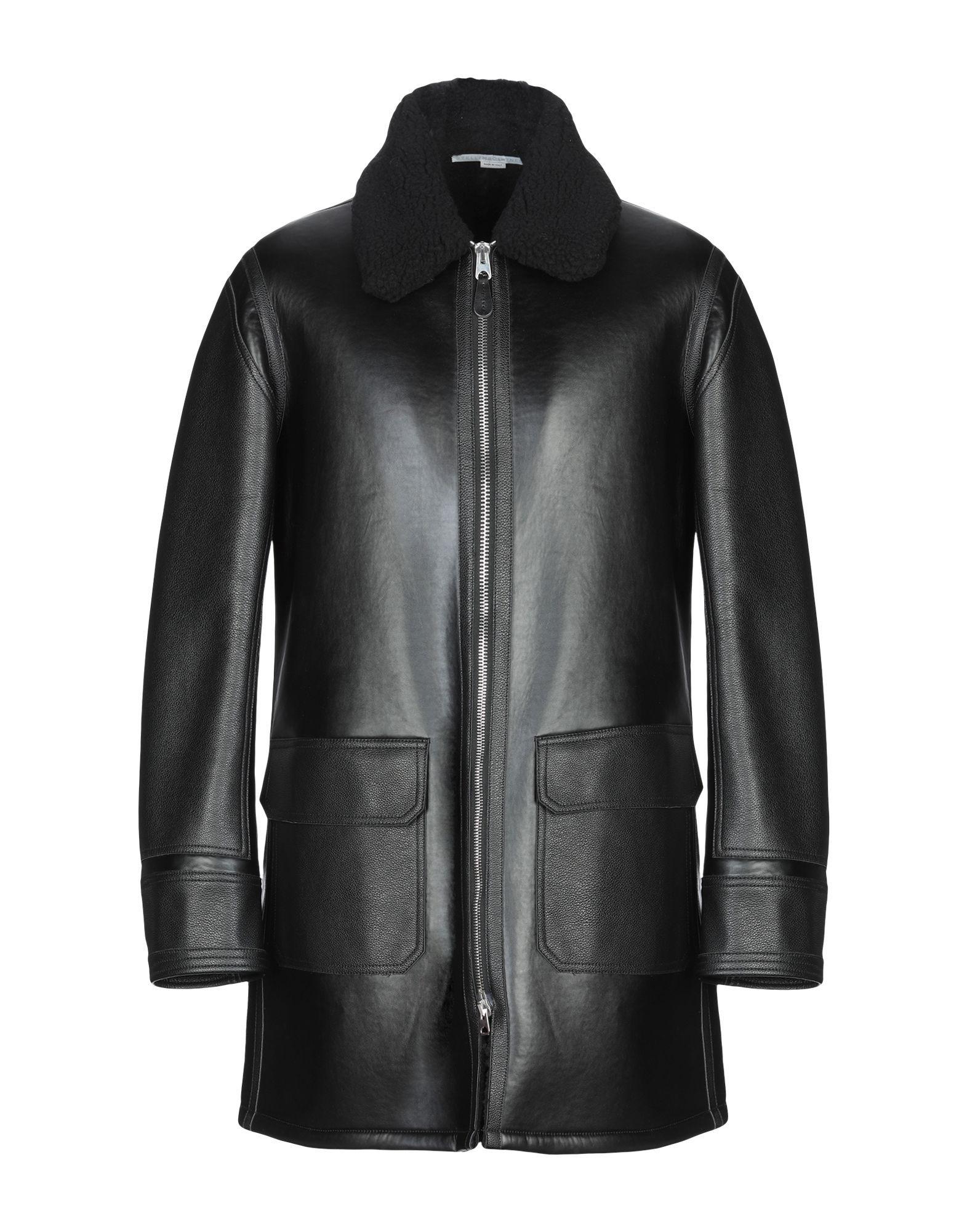 Stella McCartney Men Black Faux Leather Jacket