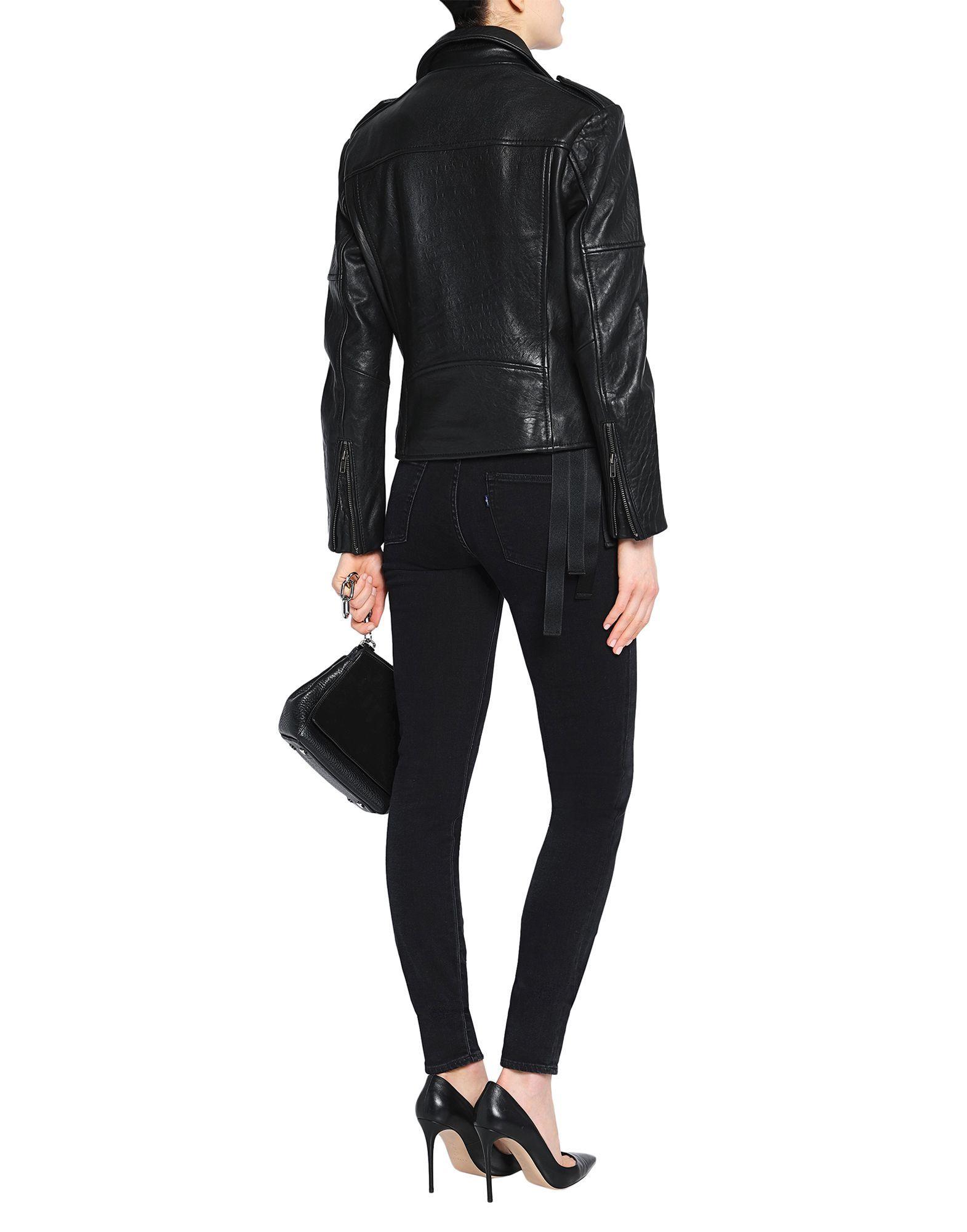 Muubaa Black Sheepskin Leather Jacket