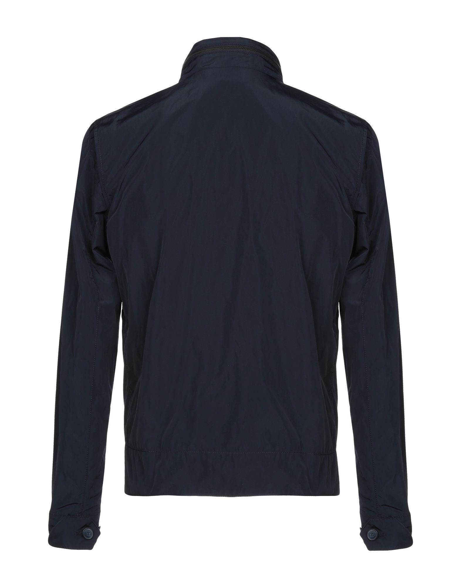 COATS & JACKETS Messagerie Dark blue Man Polyester