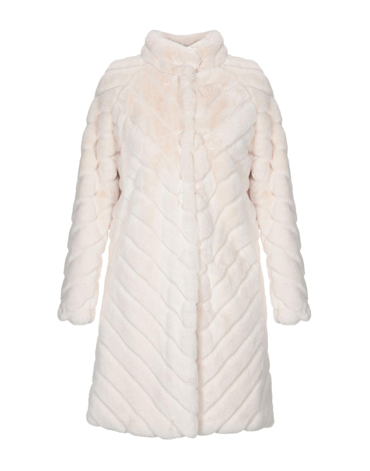 Twinset Ivory Faux Fur Coat