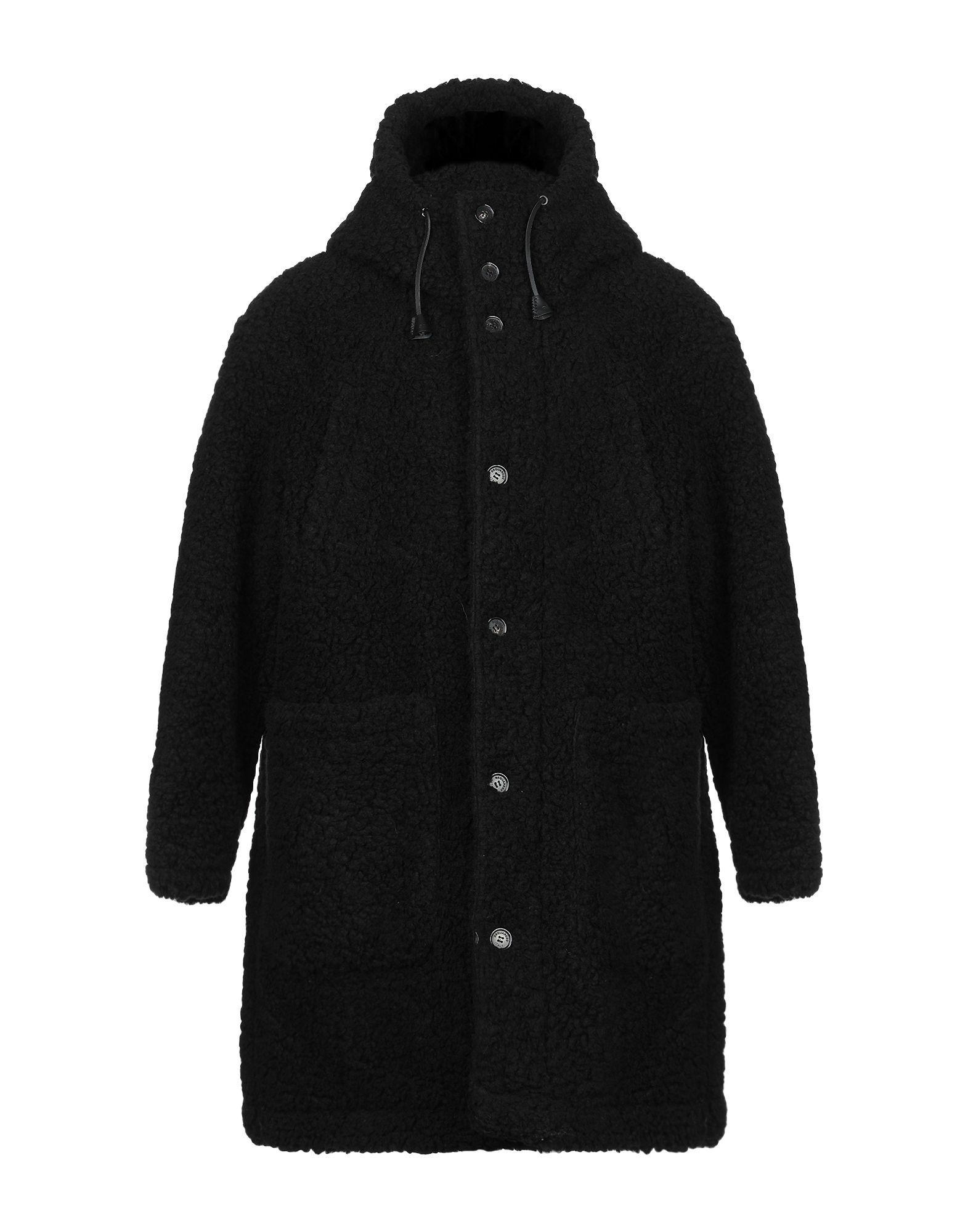 Dsquared2 Black Faux Fur Coat