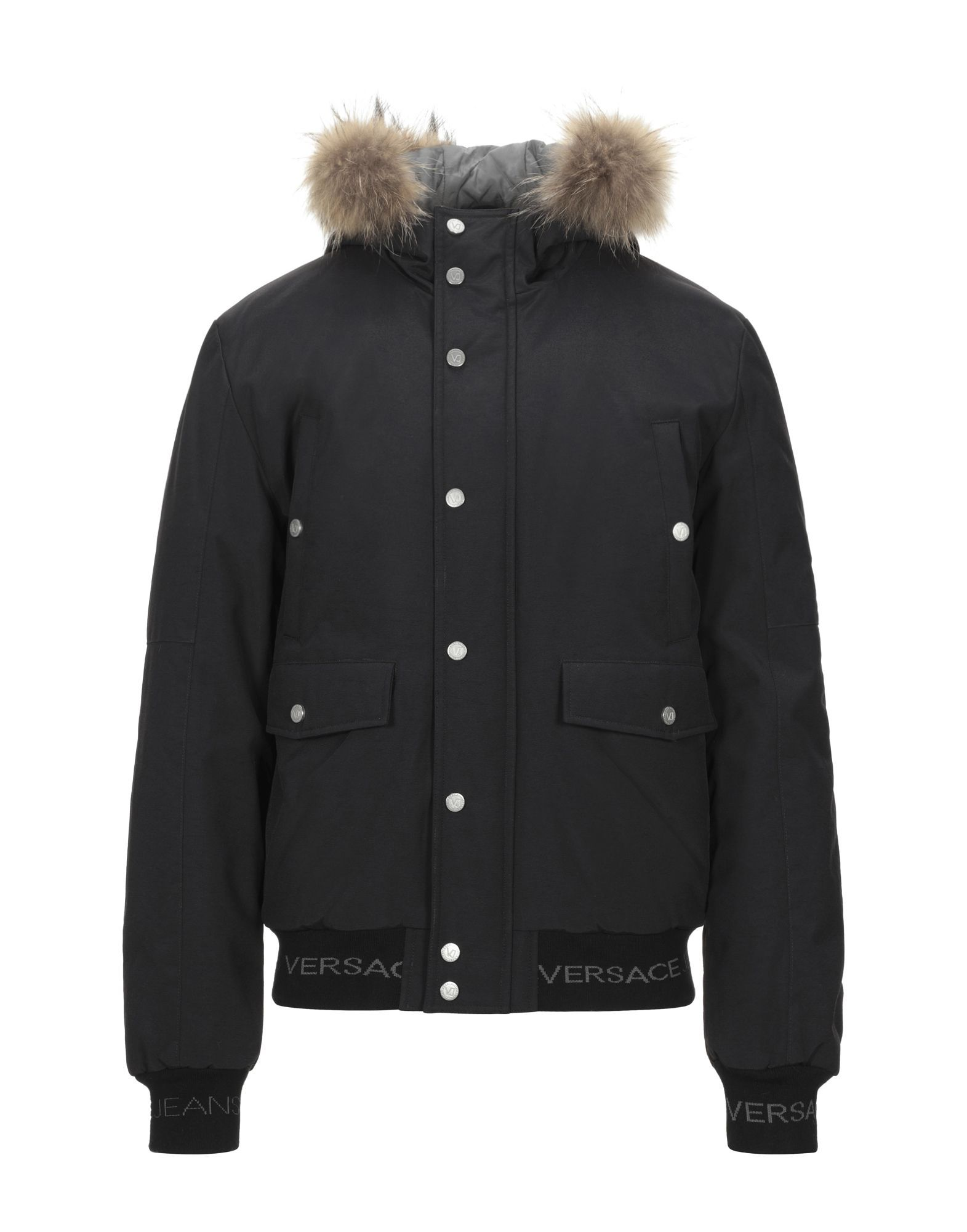 COATS & JACKETS Versace Jeans Black Man Polyamid