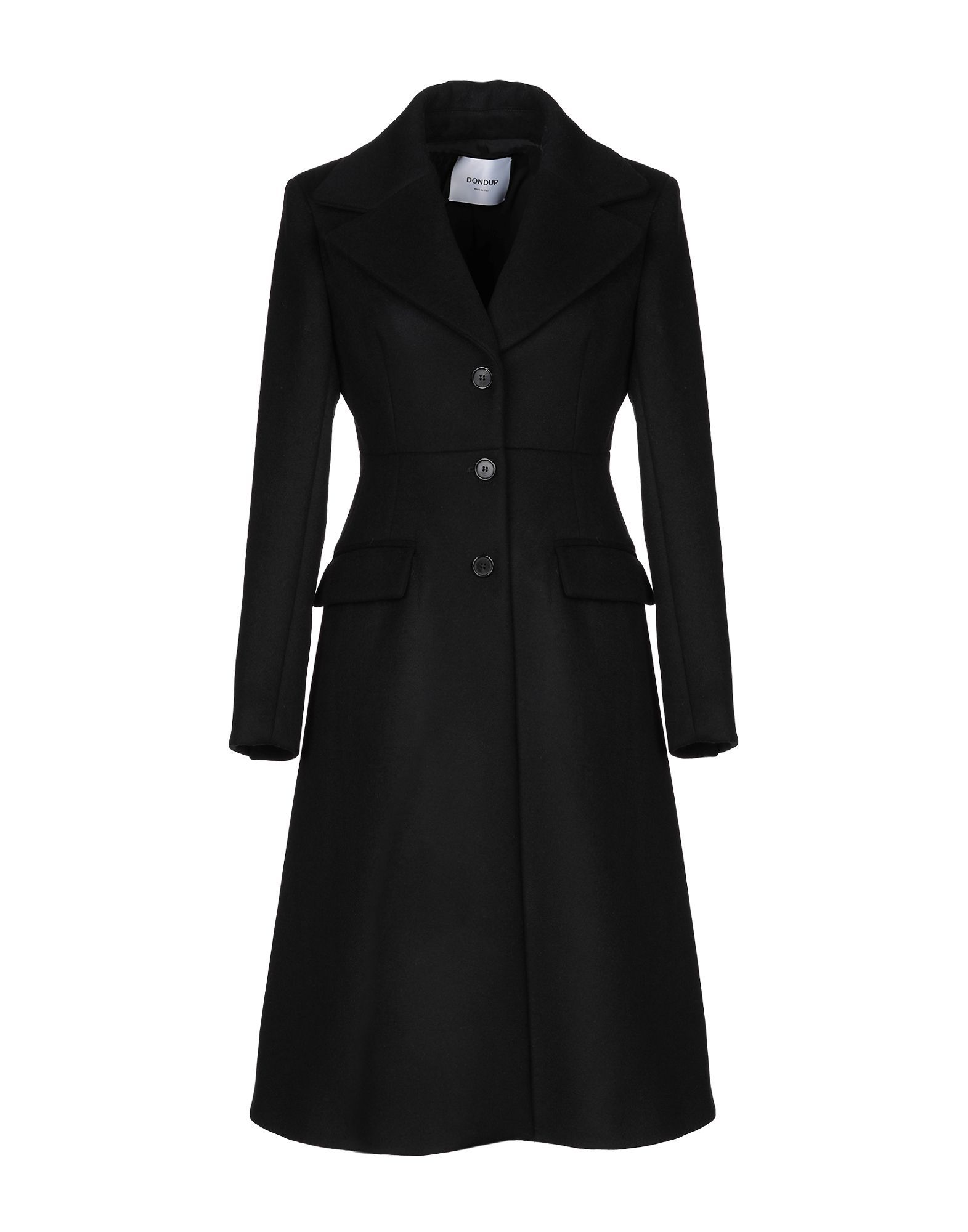 Dondup Black Virgin Wool Coat