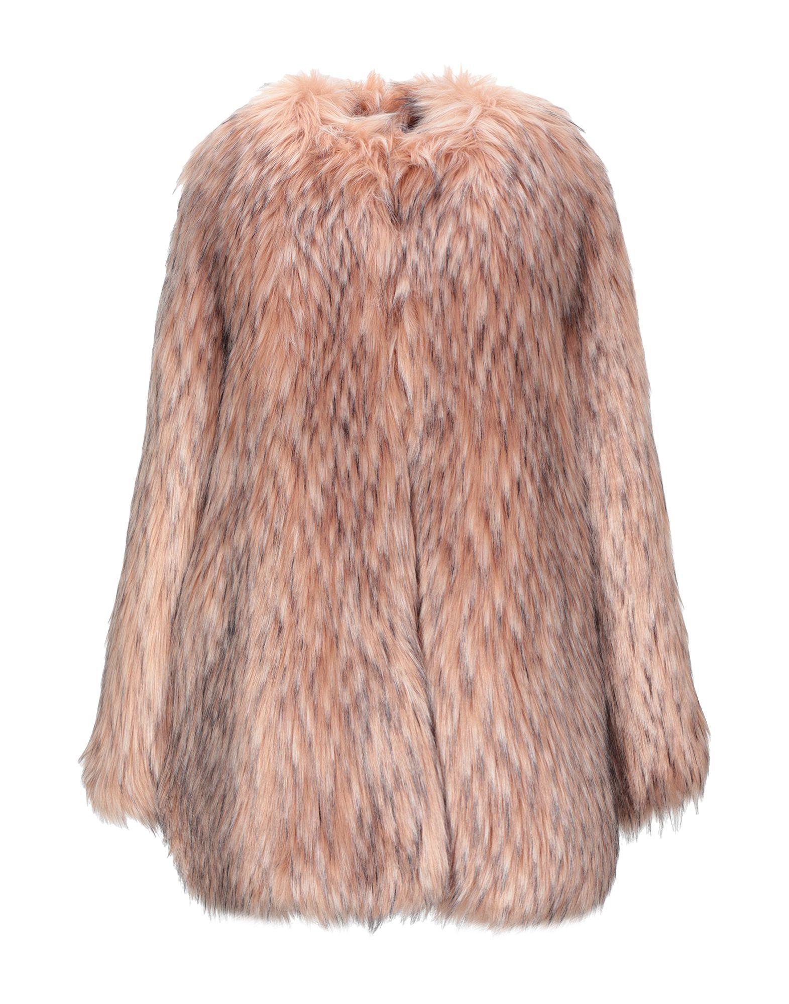 Pink Memories Pink Faux Fur Coat