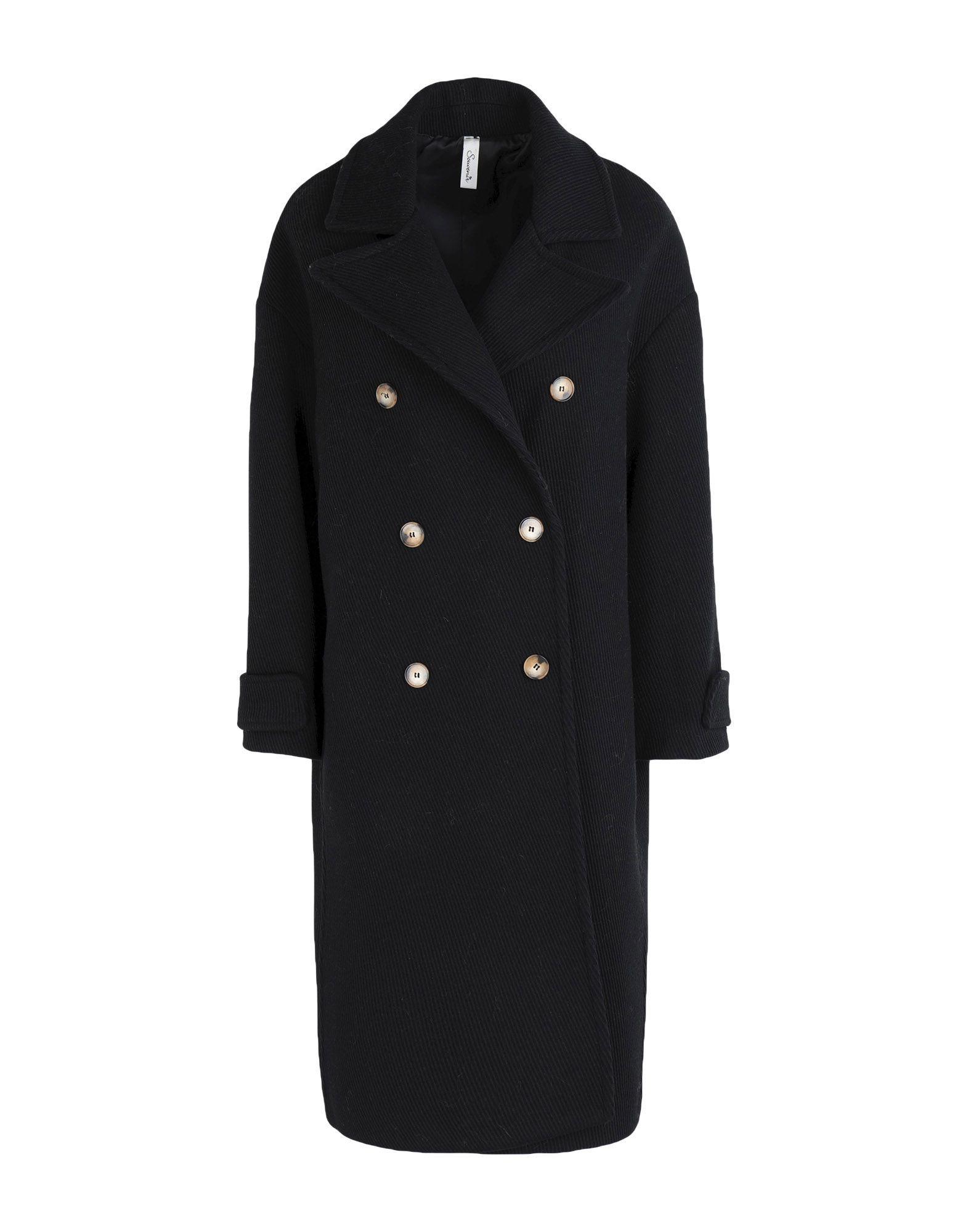 COATS & JACKETS Souvenir Black Woman Wool