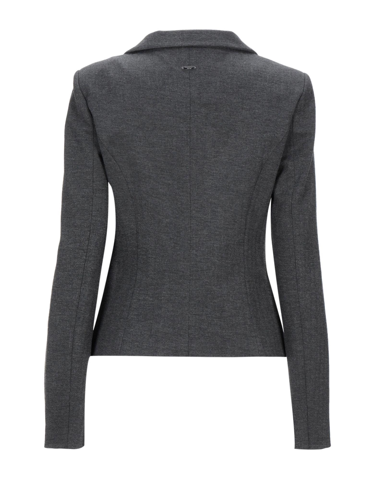 Fracomina Steel Grey Herringbone Single Breasted Jacket
