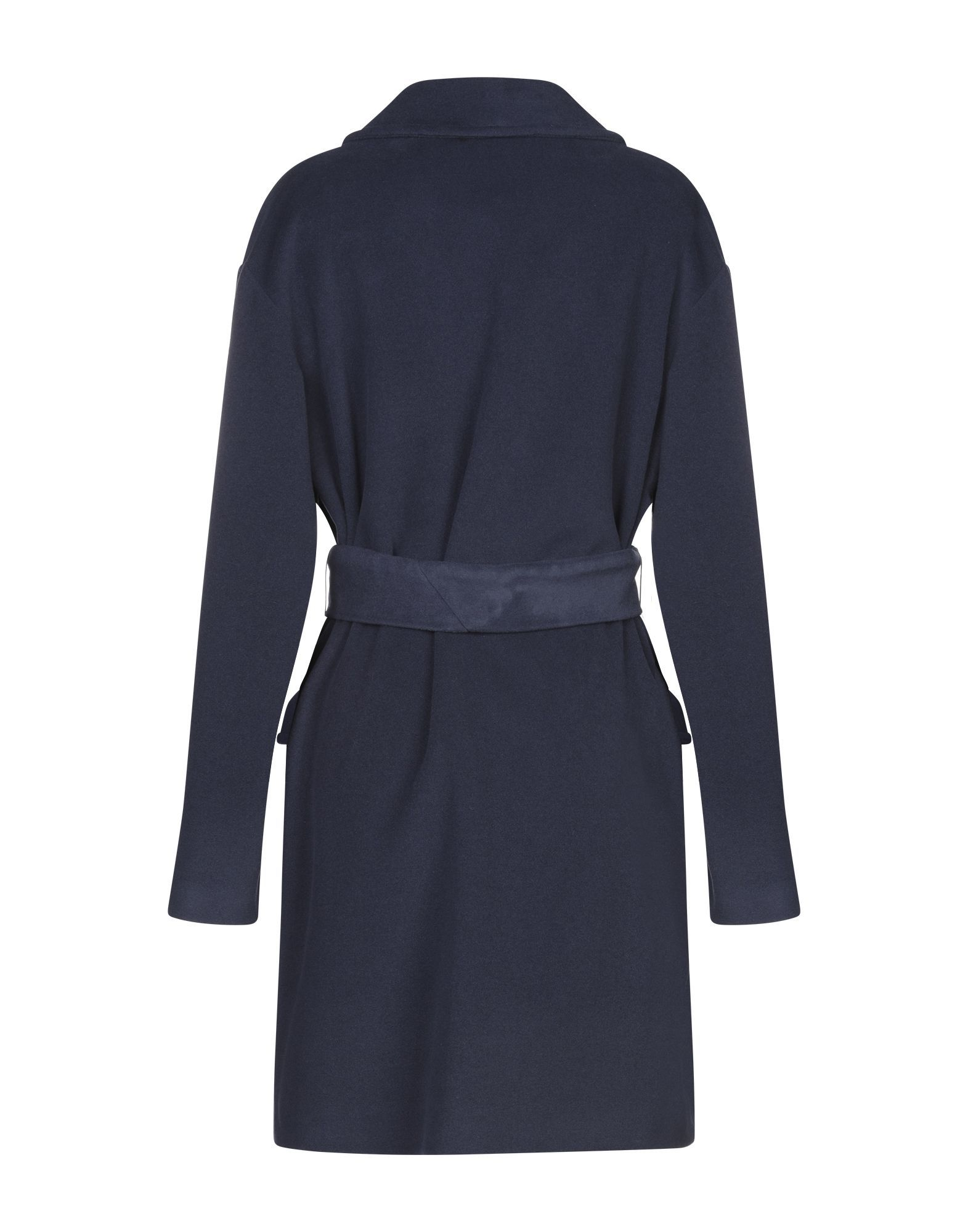 COATS & JACKETS Annie P. Dark blue Woman Virgin Wool