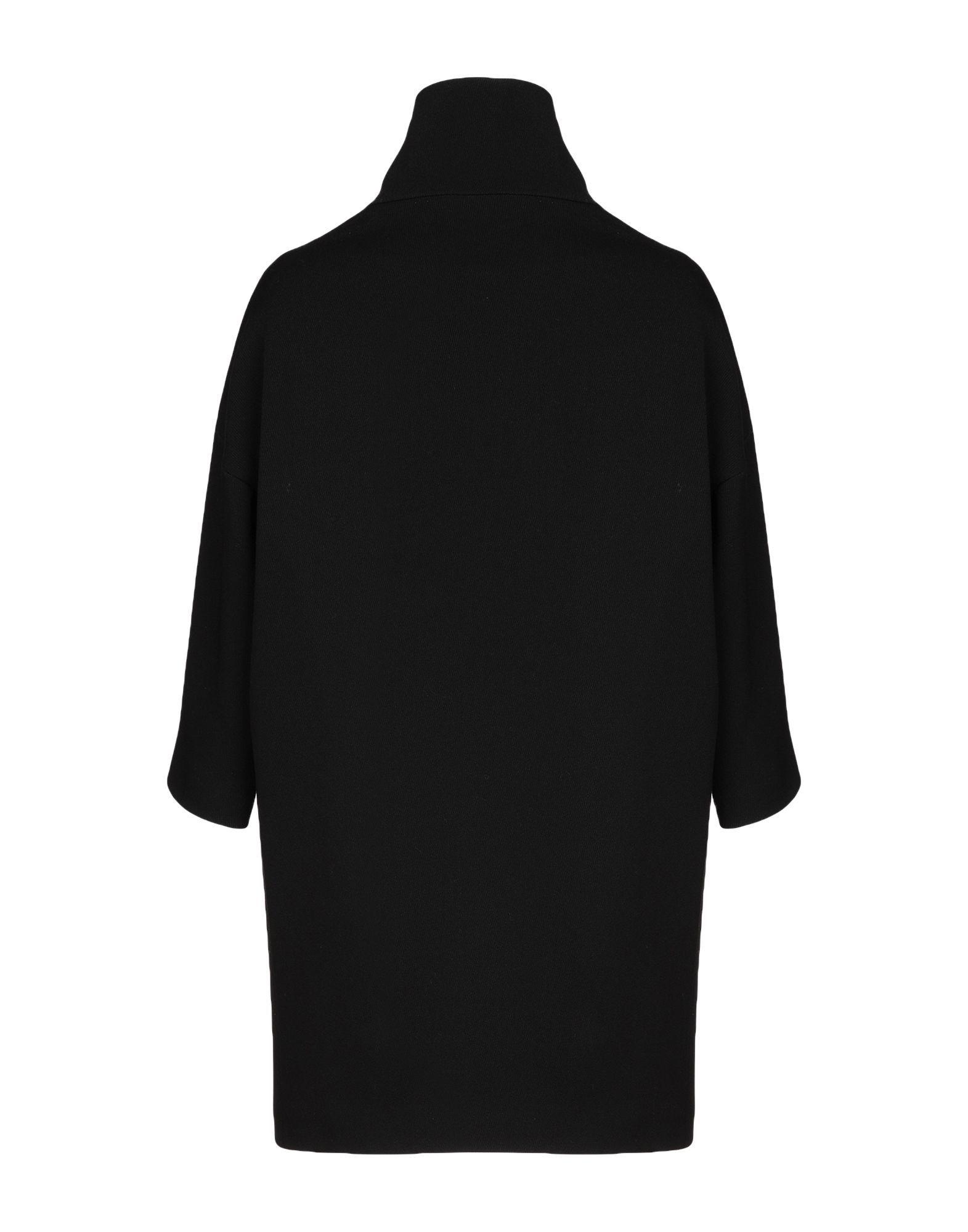 COATS & JACKETS Annie P. Black Woman Virgin Wool