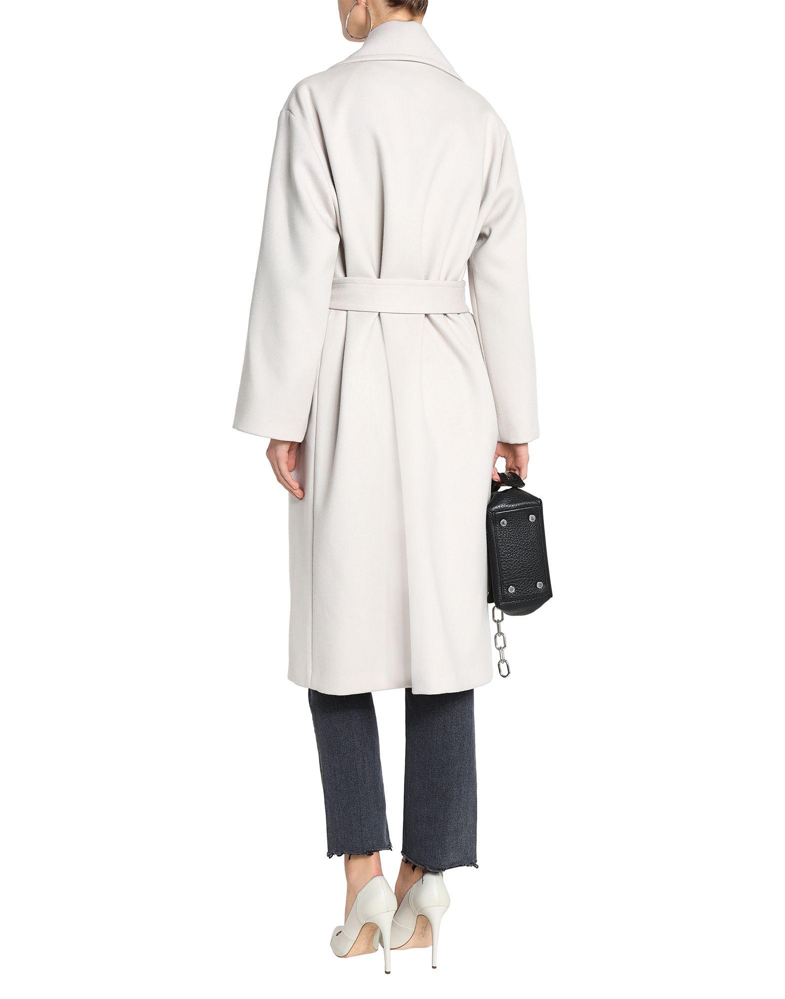Iro Light Grey Virgin Wool Coat