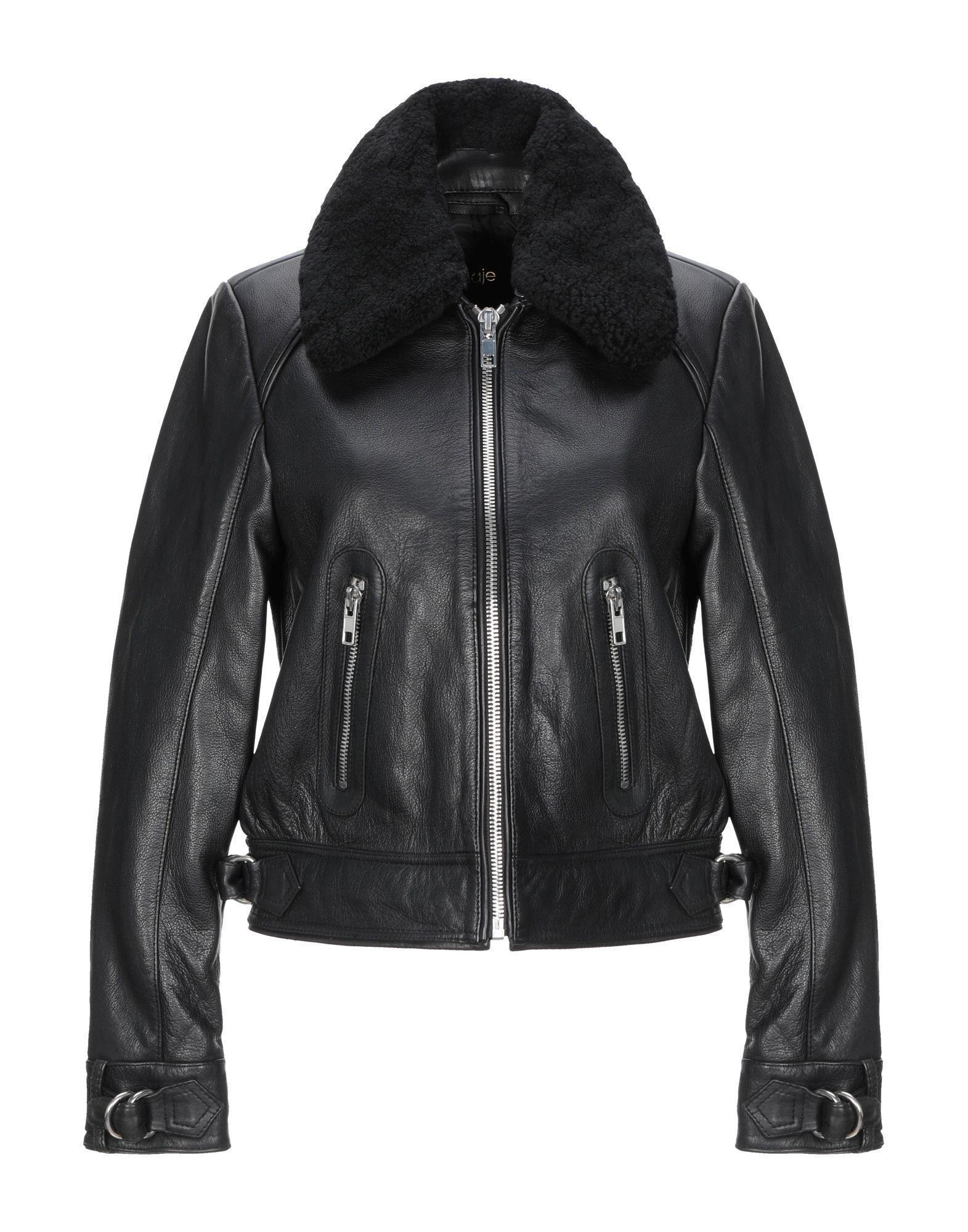 Maje Black Leather Jacket