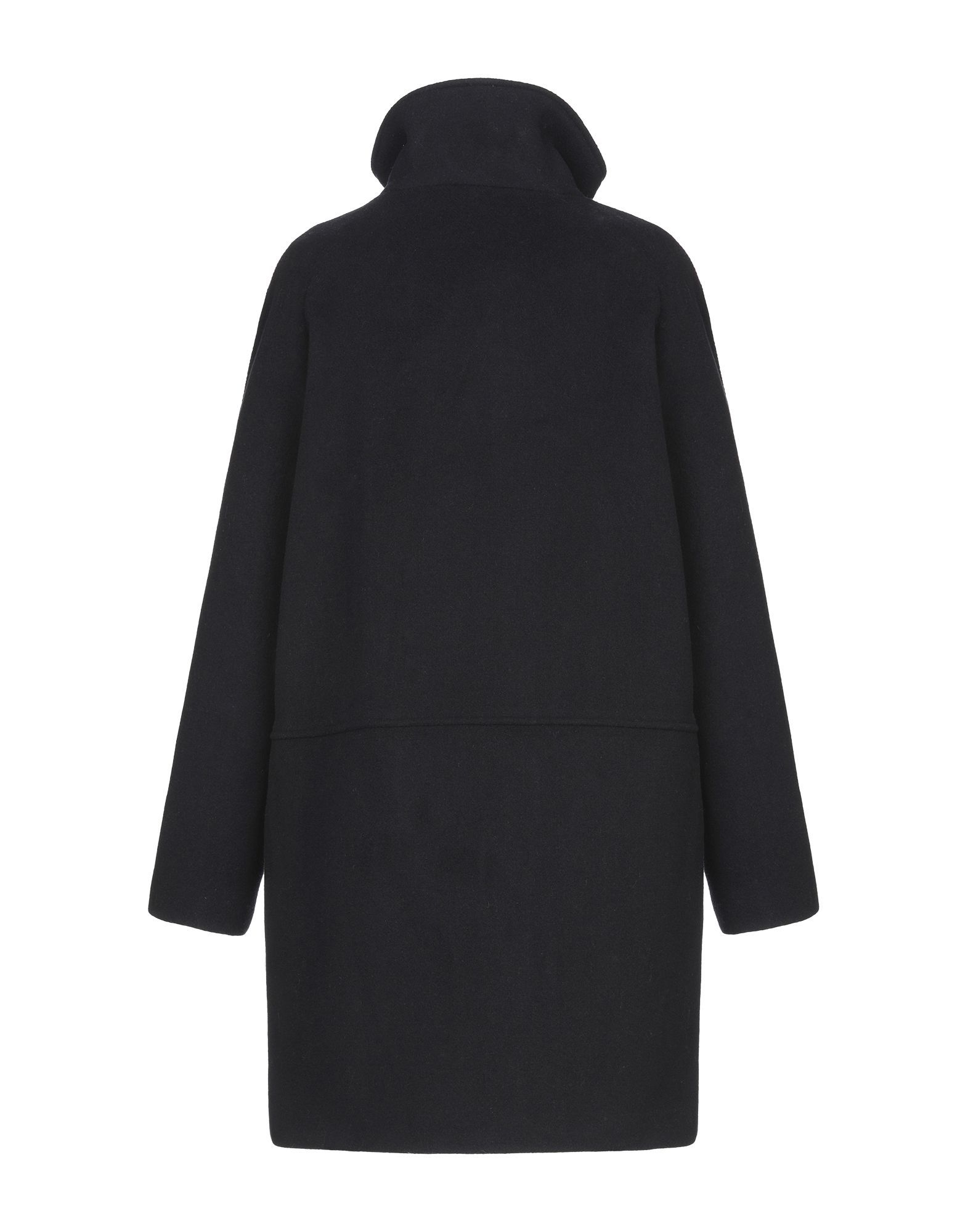 Sessun Dark Blue Wool Overcoat