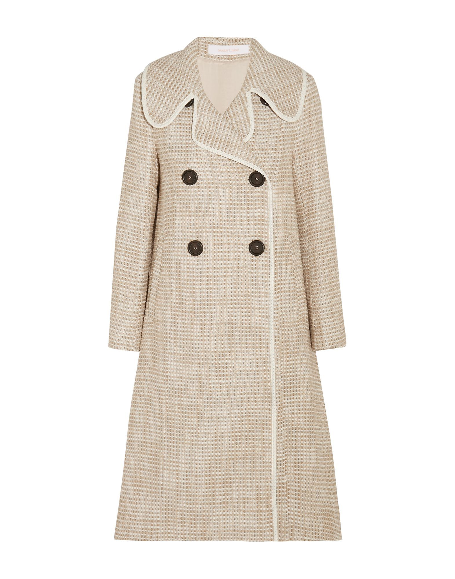COATS & JACKETS See By Chlo� Beige Woman Acrilyc