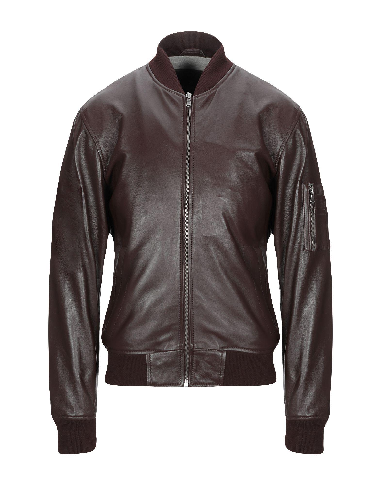 Hackett Dark Brown Lambskin Leather Jacket