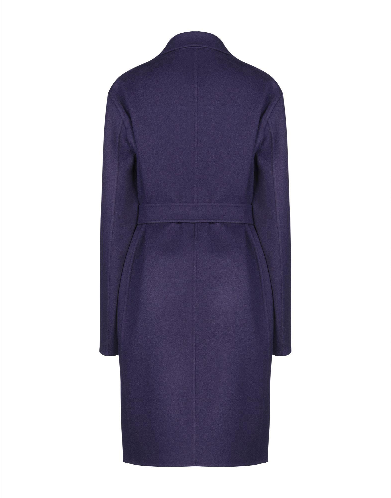 Rochas Purple Virgin Wool Belted Overcoat