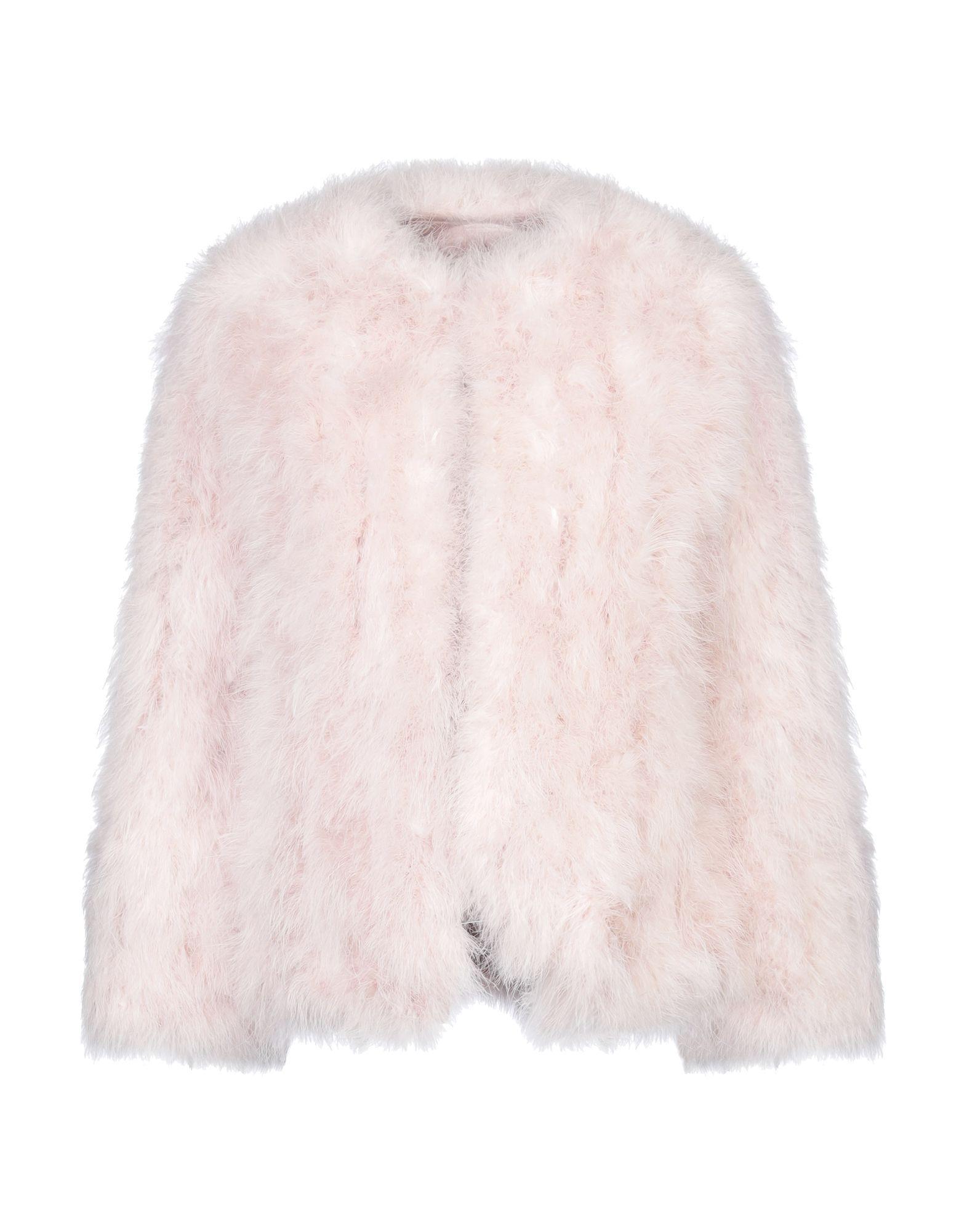 Coat & Jackets Soallure Light Pink Women's Feather