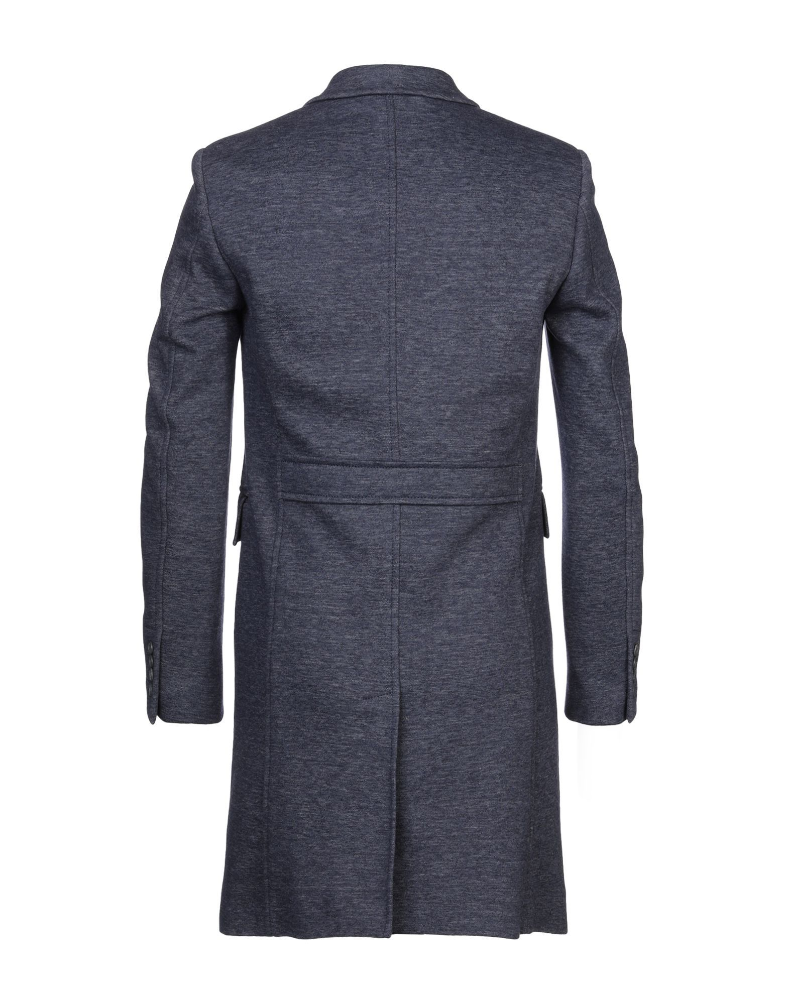 Burberry Dark Blue Single Breasted Coat