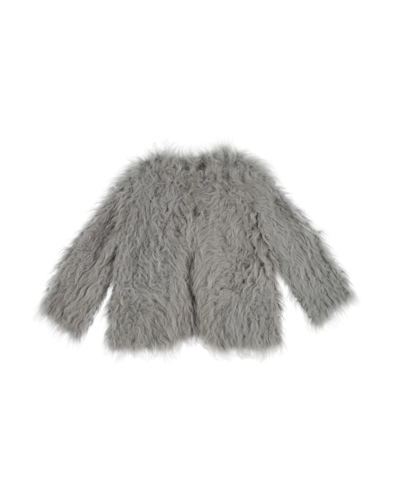 COATS & JACKETS Miss Grant Grey Girl Pelliccia di agnello