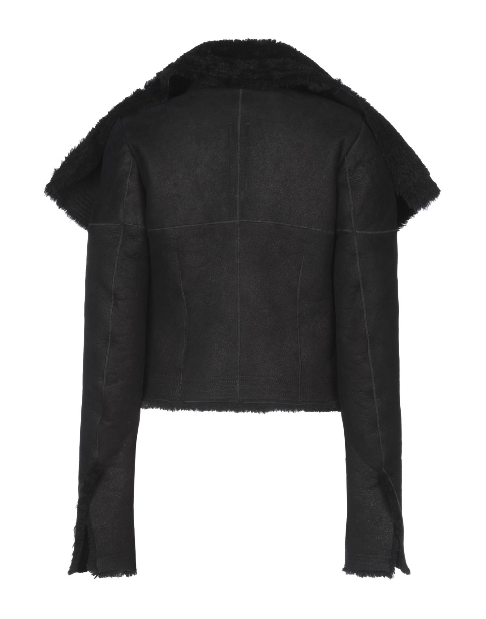 Rick Owens Black Sheepskin Leather Jacket