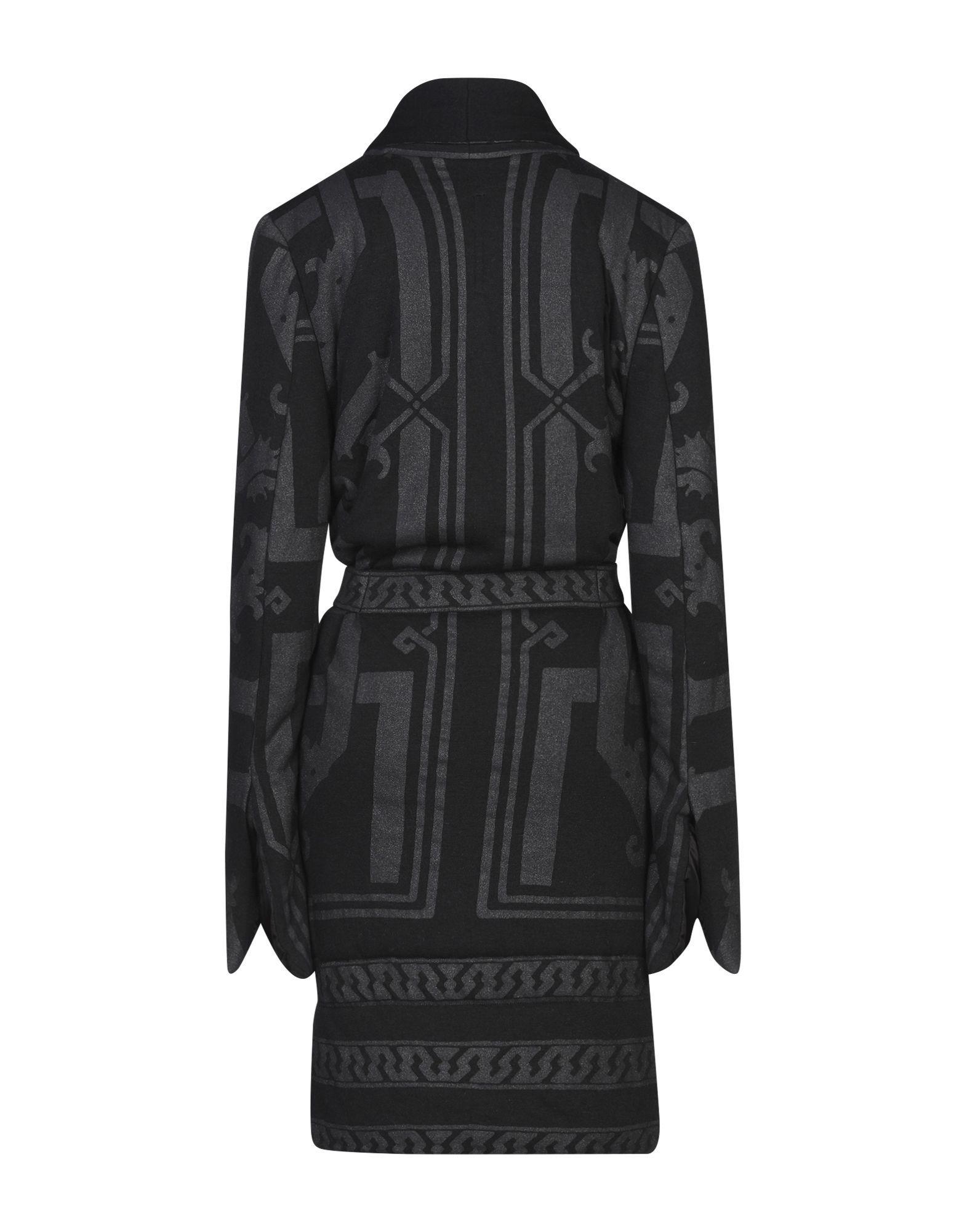 Rick Owens Lilies Black Belted Wrap Coat