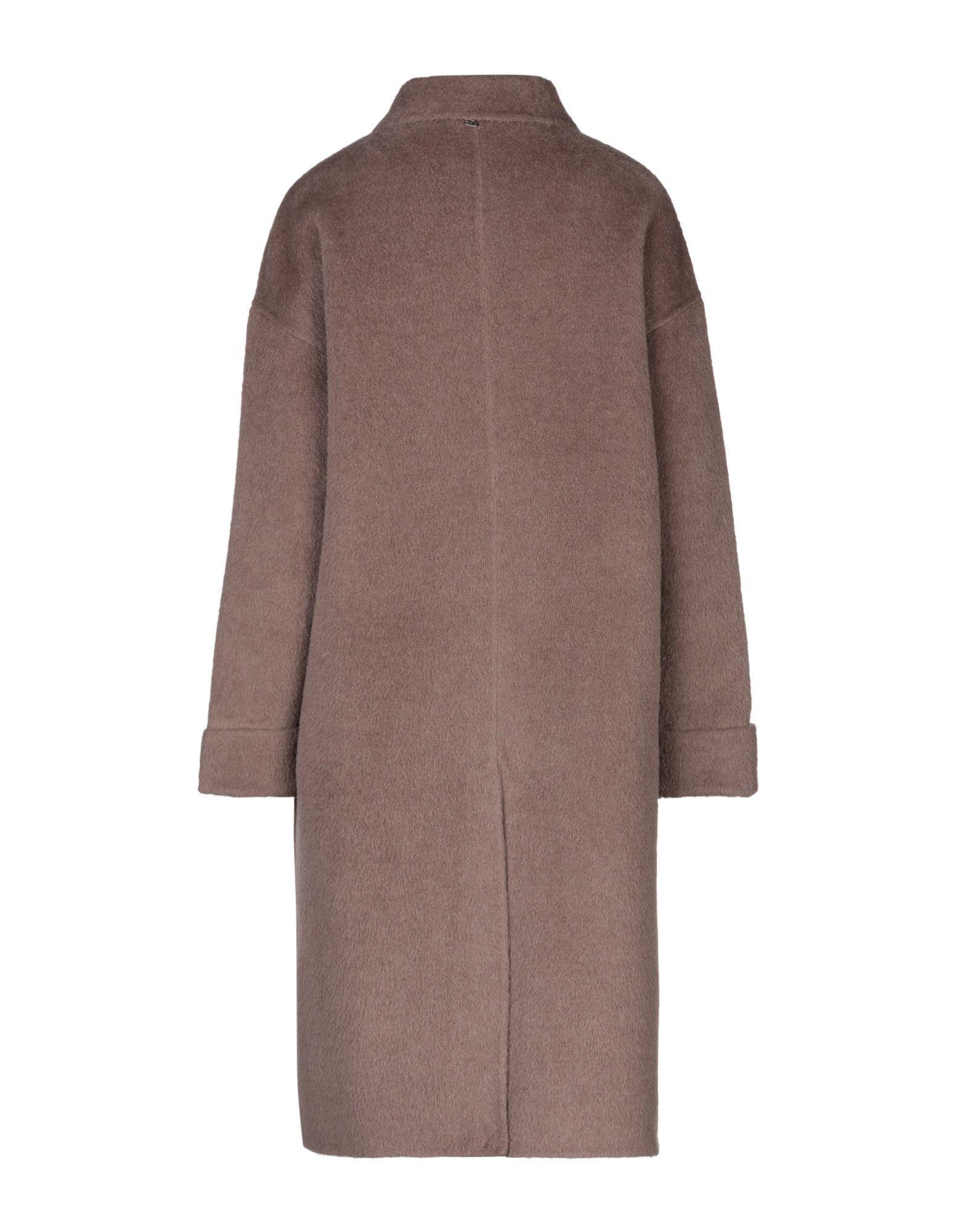 Manila Grace Khaki Wool Overcoat