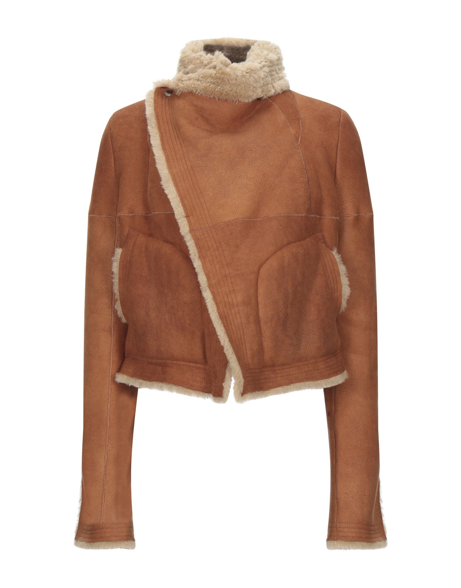 Rick Owens Camel Sheepskin Jacket