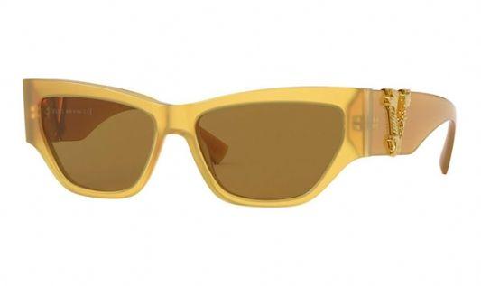 Versace Cat eye plastic Women Sunglasses Opal Yellow / Bronze