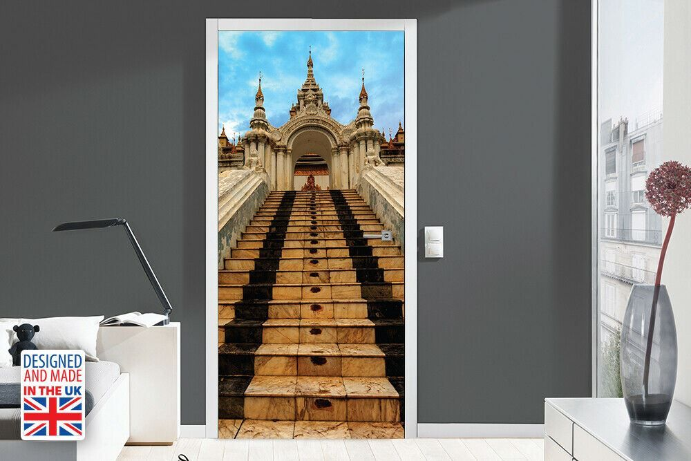 Temple Entrance Self-Adhesive Door Mural Sticker For All Europe Size 90CmX200CM