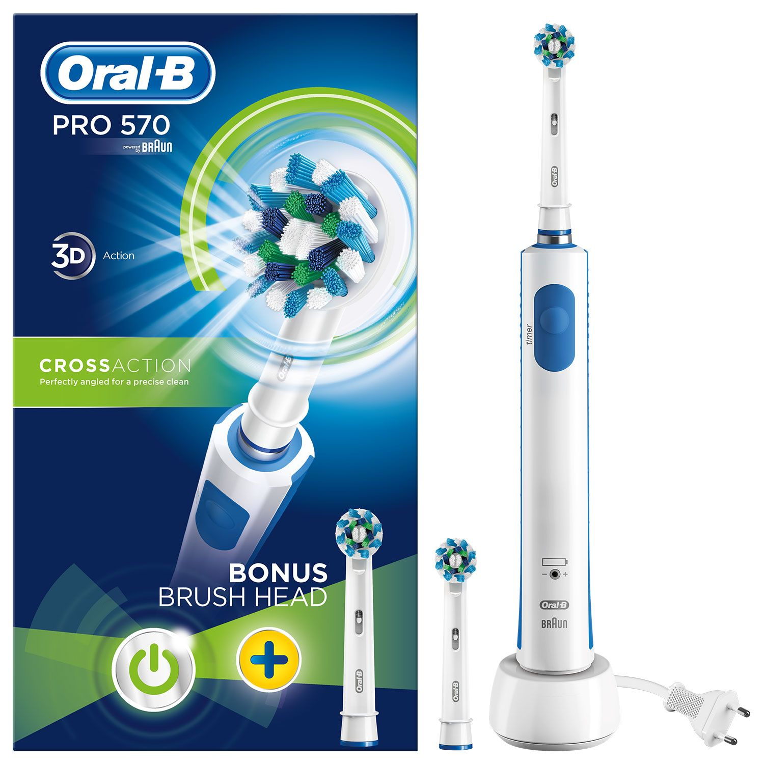 Oral B Pro 570 Cross Action Limited Edition Brush and Refill