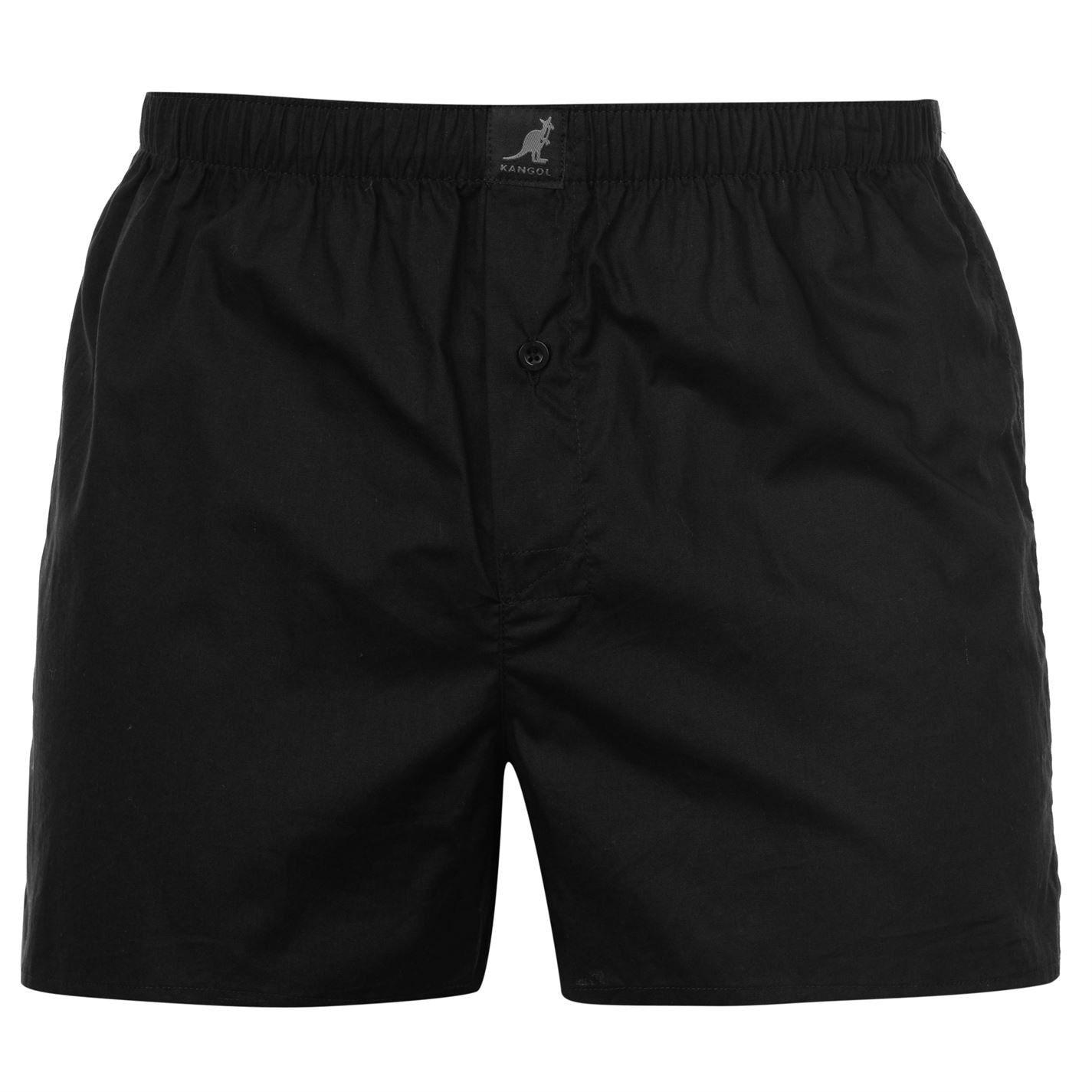 Kangol Mens Woven Boxer Shorts 4 Pack Briefs