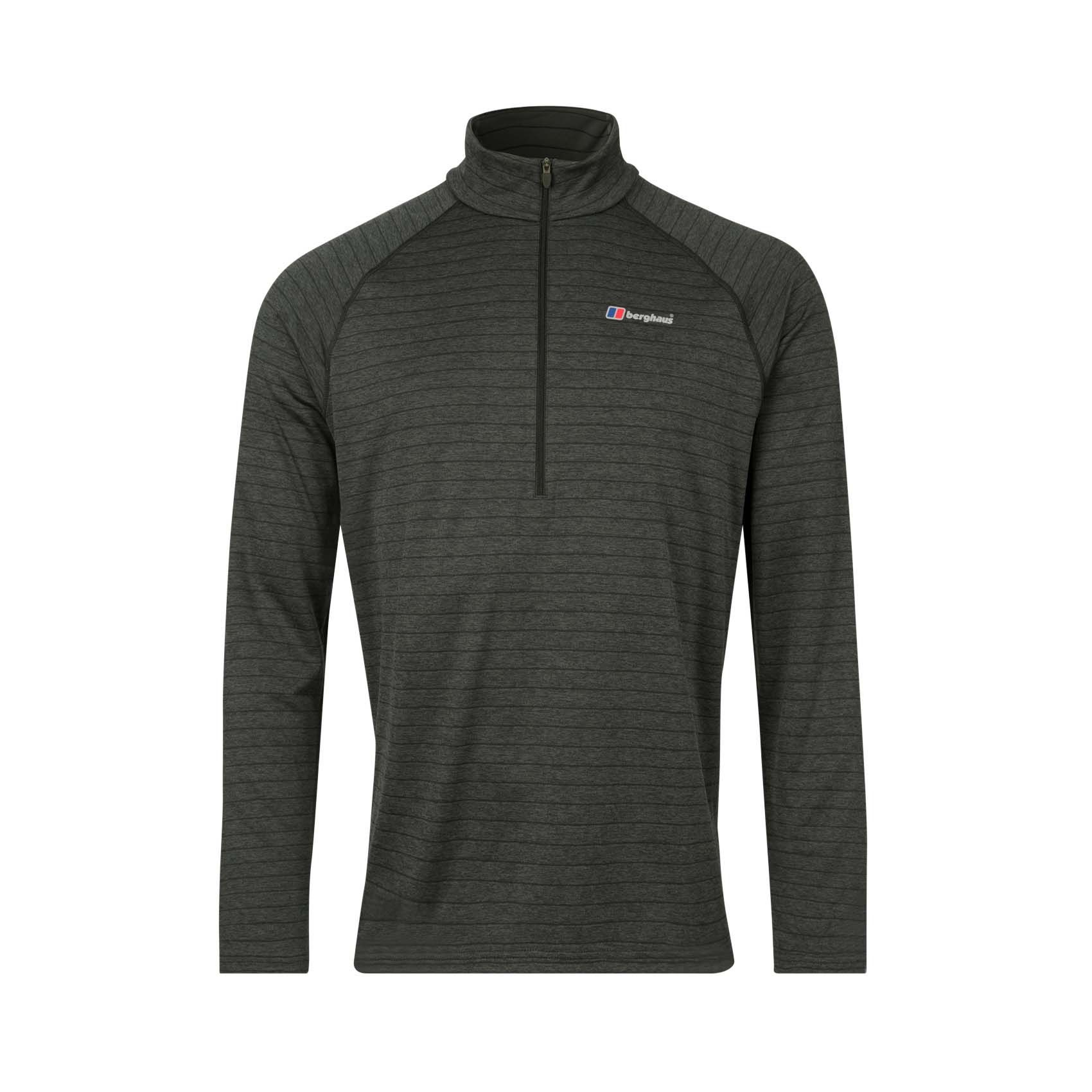 Berghaus Thermal Tech 1/2 Zip Mens Long Sleeve Shirt Grey - XXL