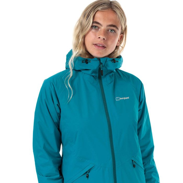 Women's Berghaus Deluge Pro Insulated Waterproof Jacket in Turquoise