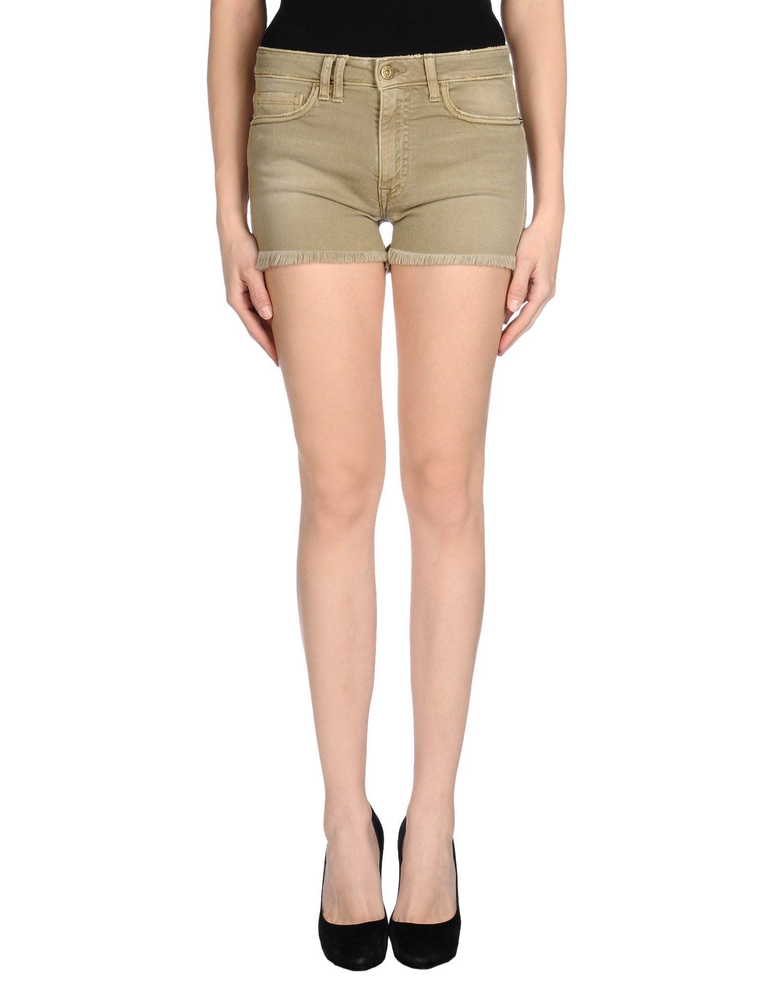 Cycle Military Green Denim Shorts