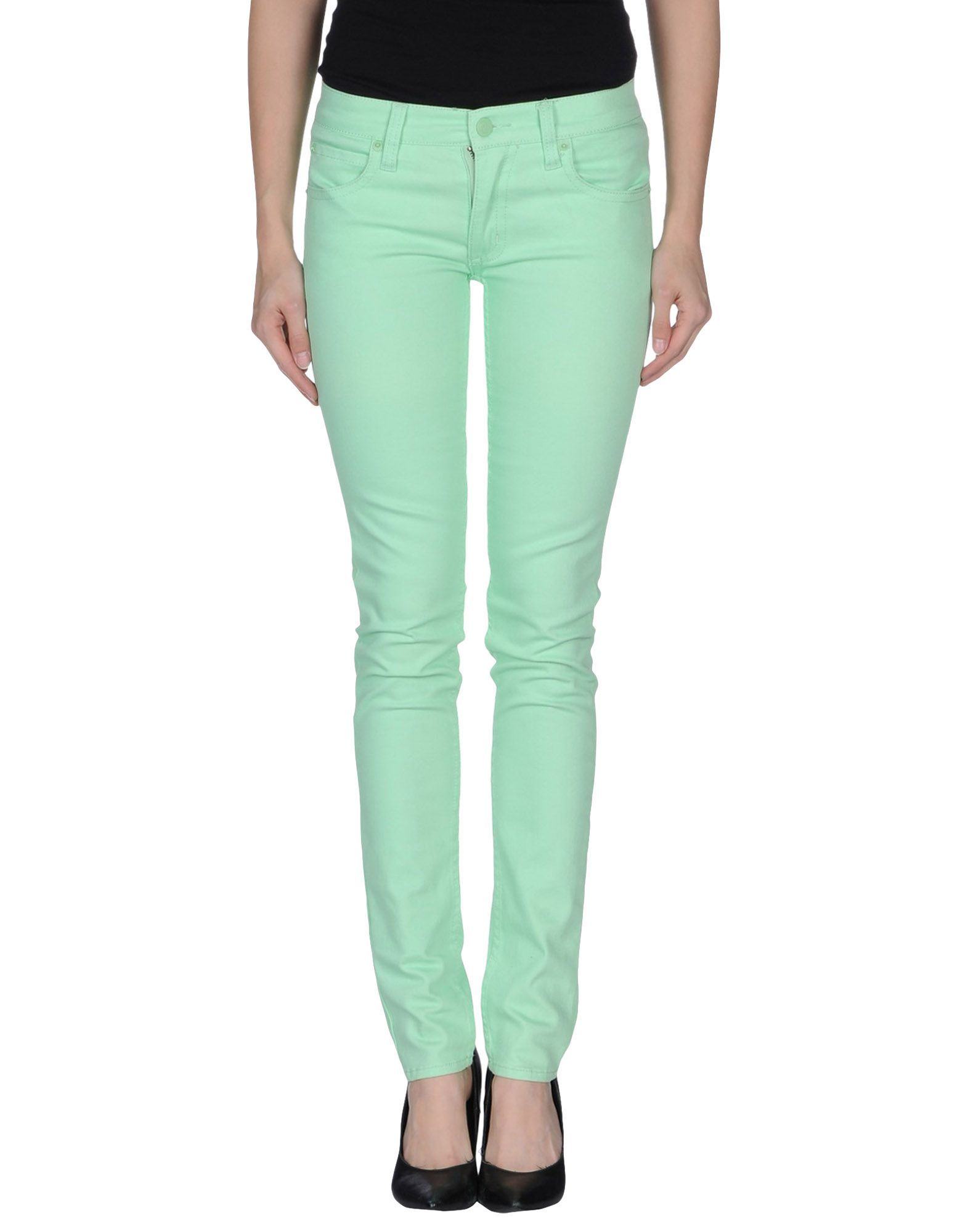 Cheap Monday Light Green Cotton Skinny Jeans