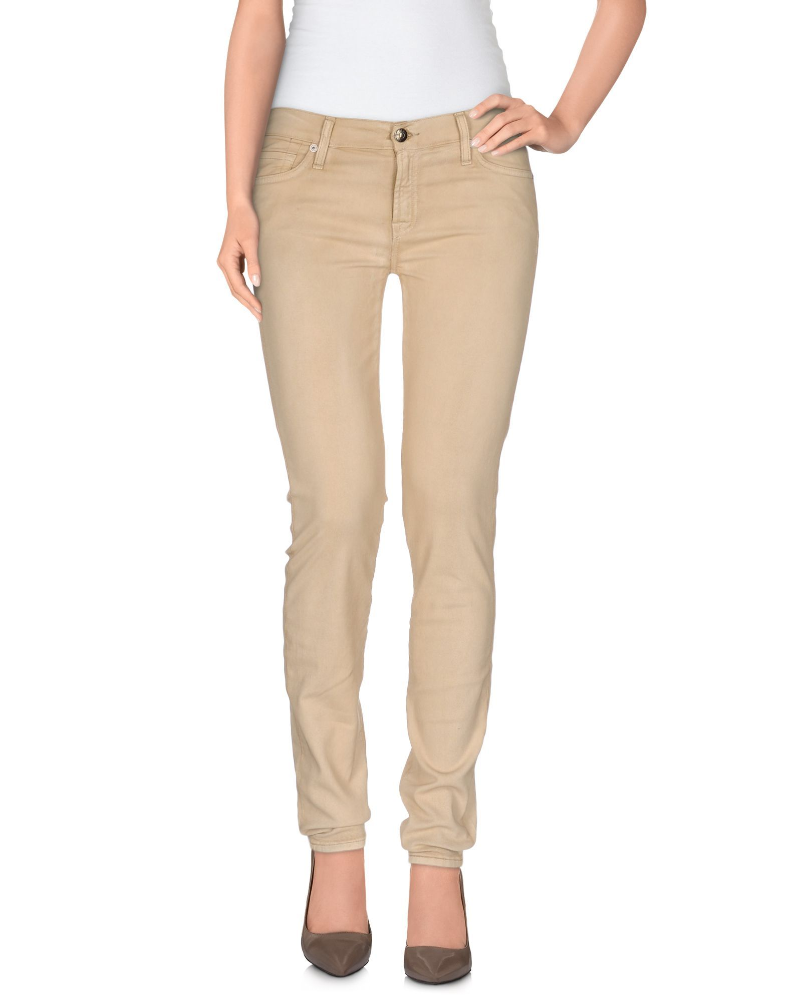 7 For All Mankind Beige Cotton Jeans