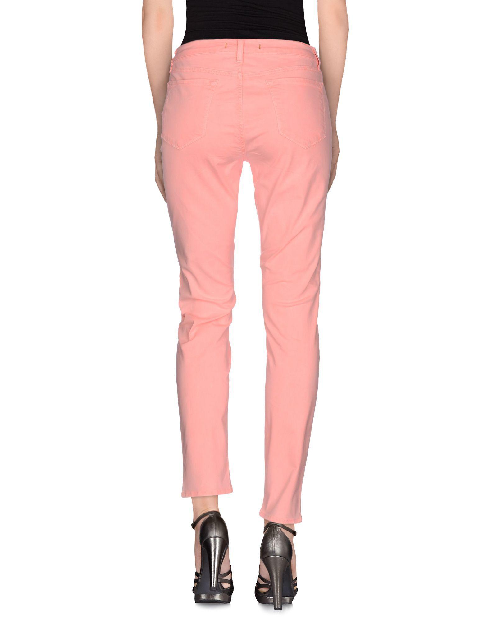 J Brand Salmon Pink Cotton Slim Fit Jeans