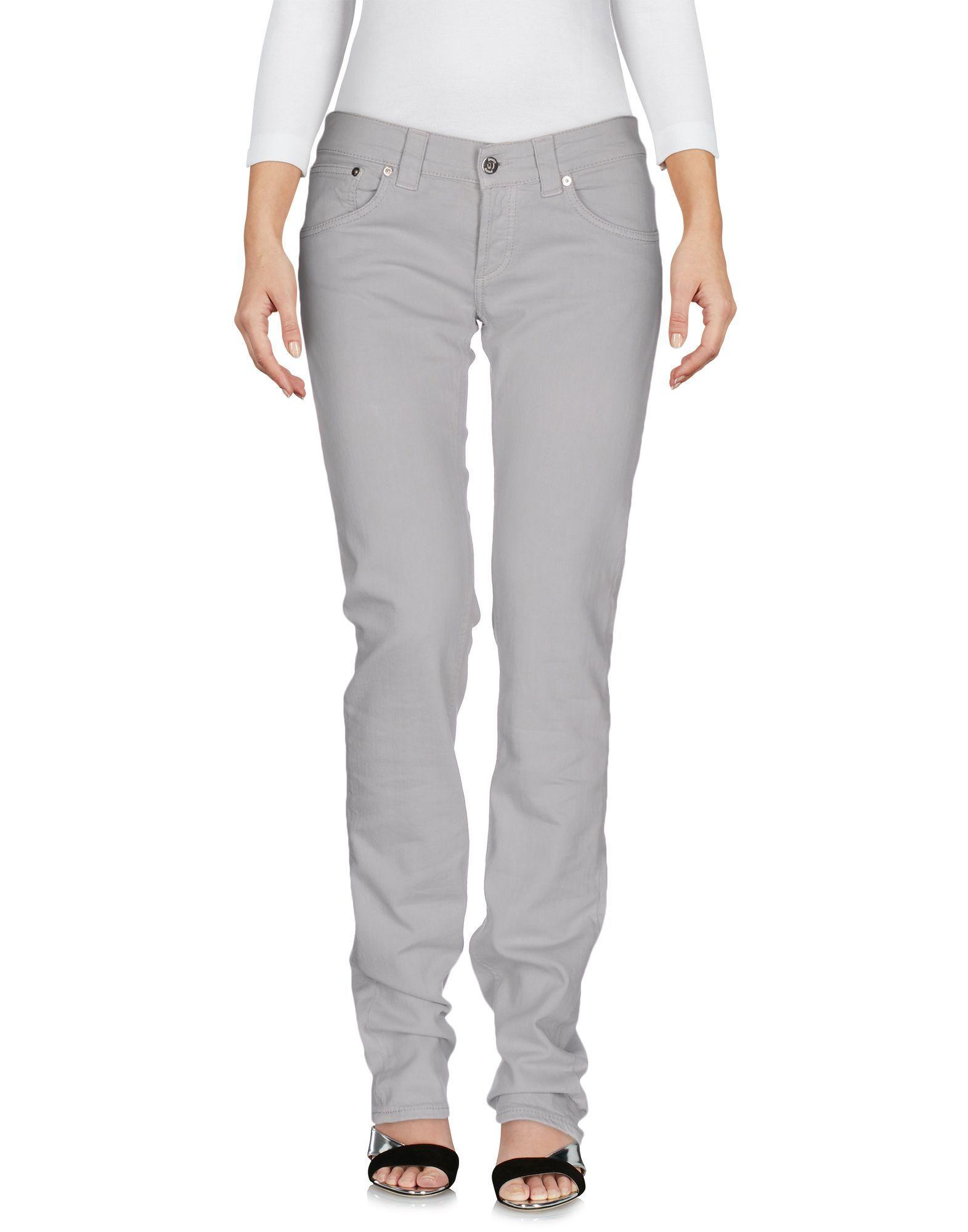 Dondup Light Grey Cotton Jeans