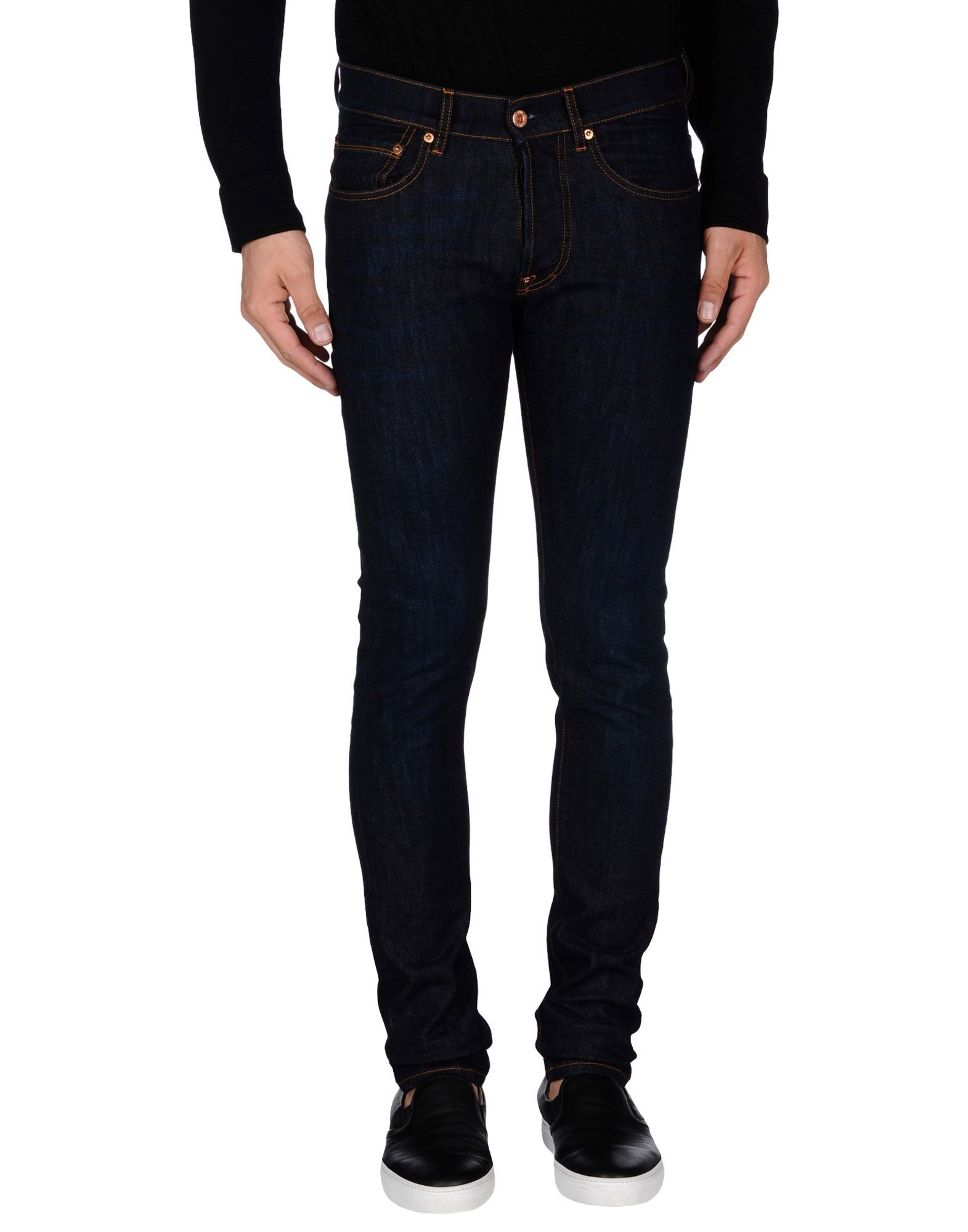 The.Nim Blue Cotton Slim Fit Jeans