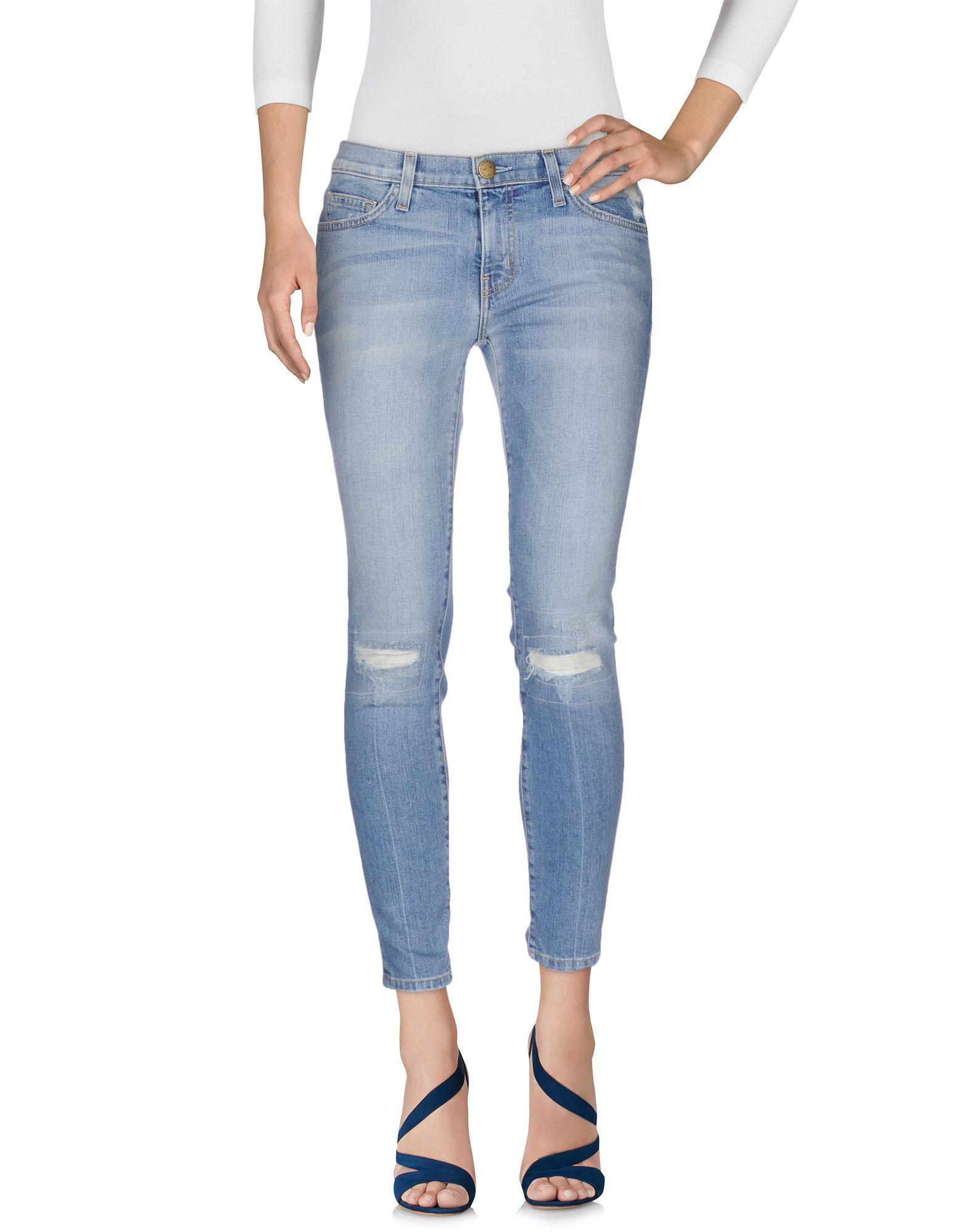 Current/Elliott Blue Cotton Skinny Jeans