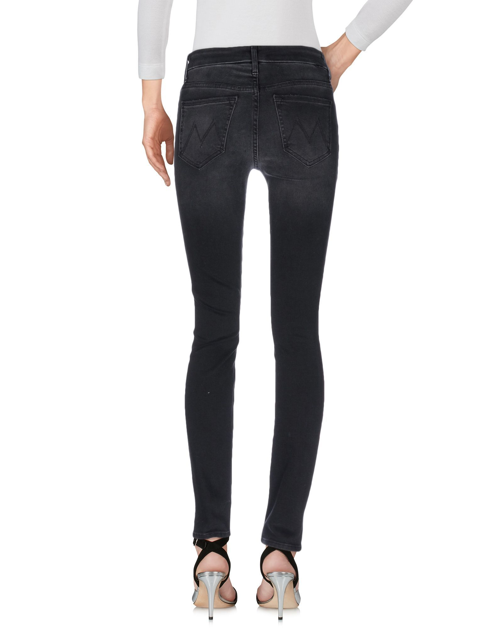 Mother Black Cotton Skinny Jeans