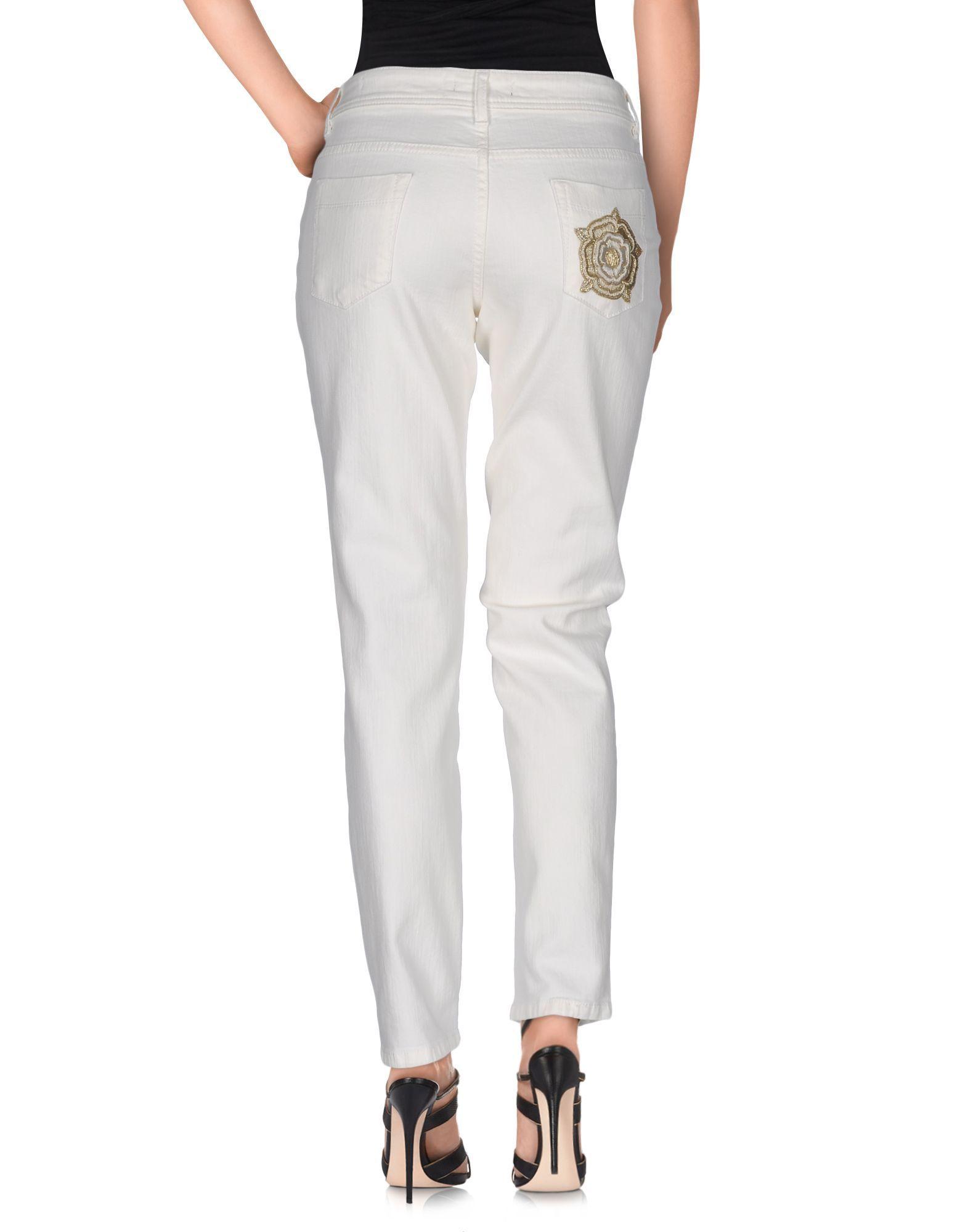 DENIM Just Cavalli White Woman Cotton