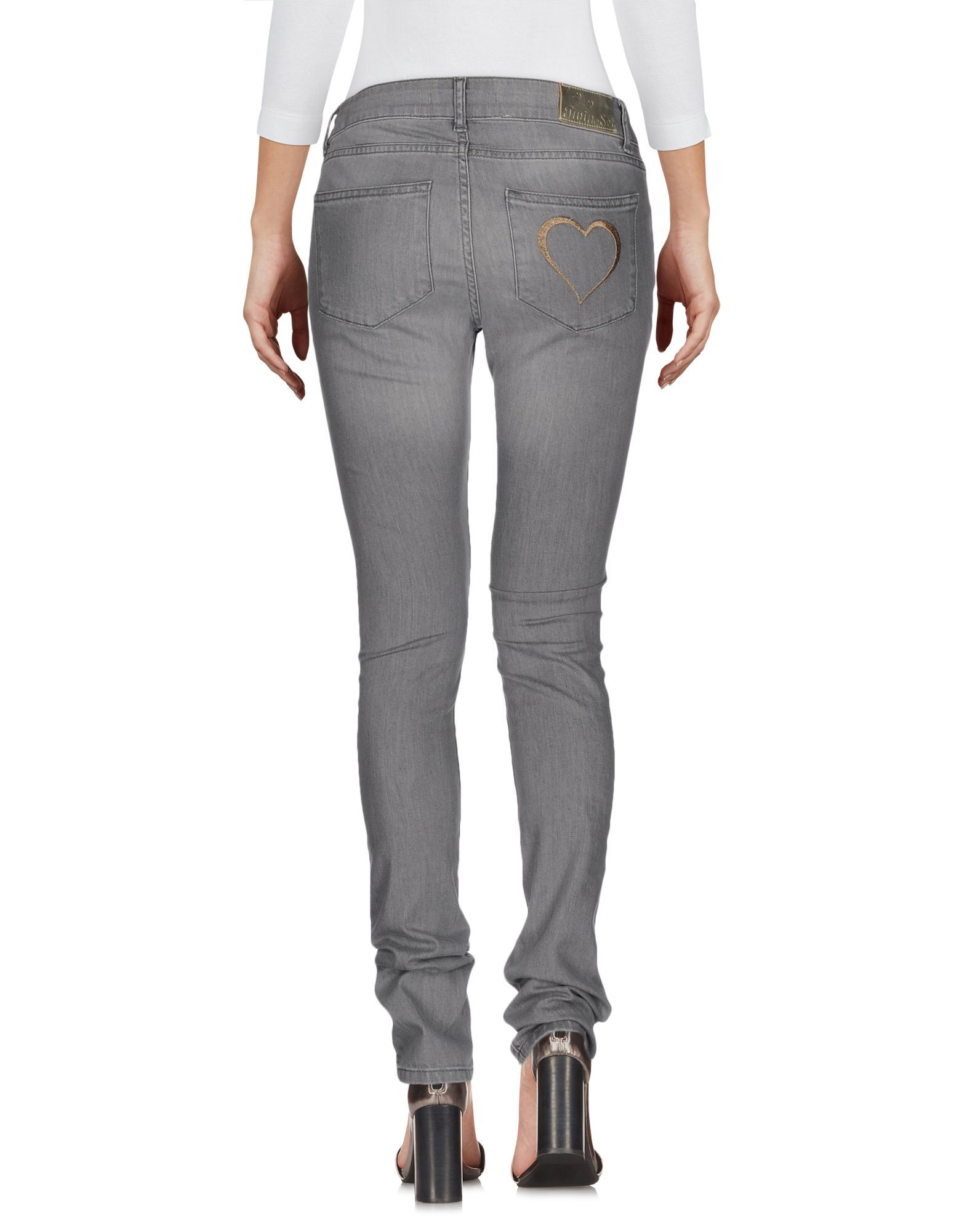 Twinset Grey Cotton Skinny Jeans