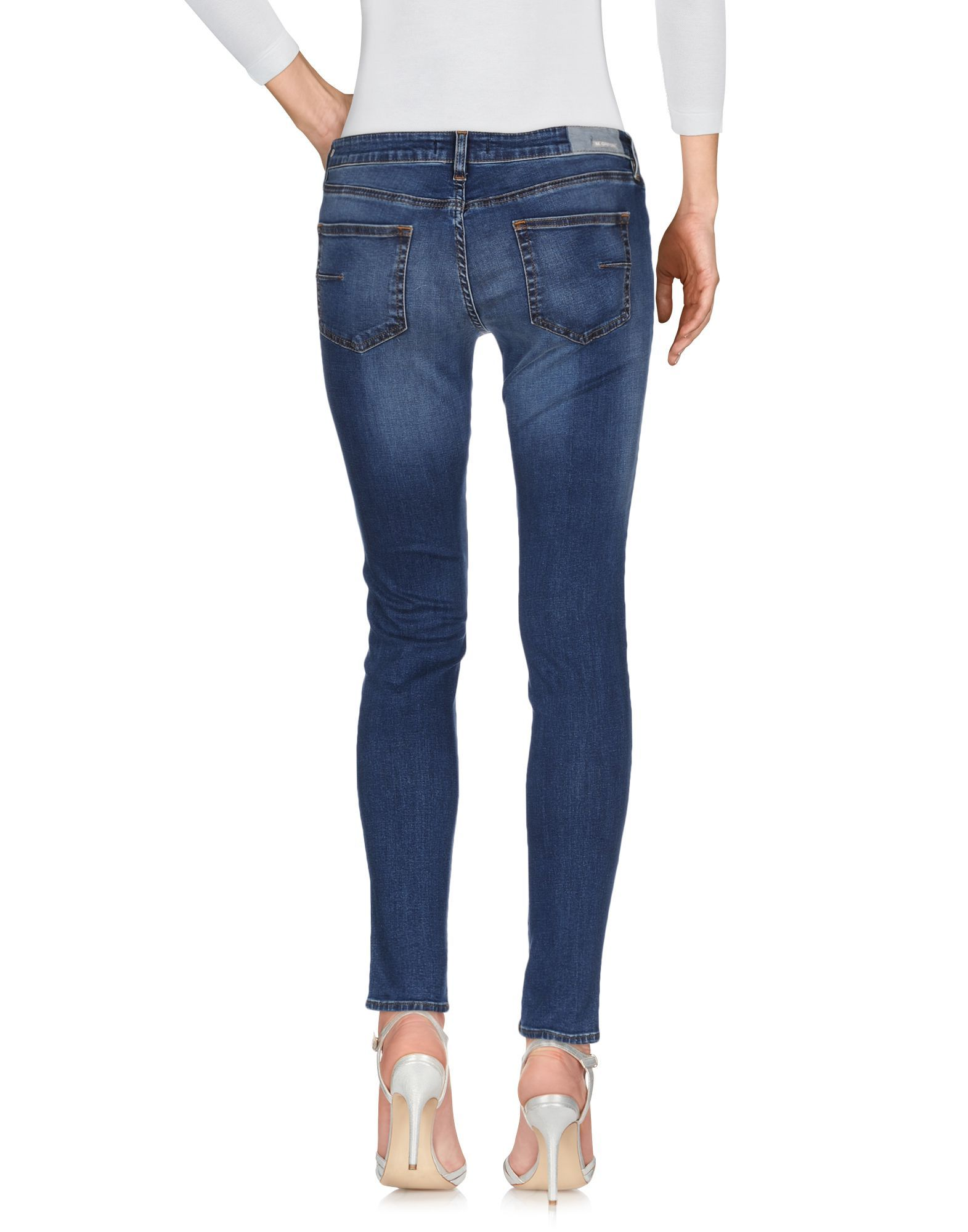 Mauro Grifoni Blue Cotton Skinny Jeans