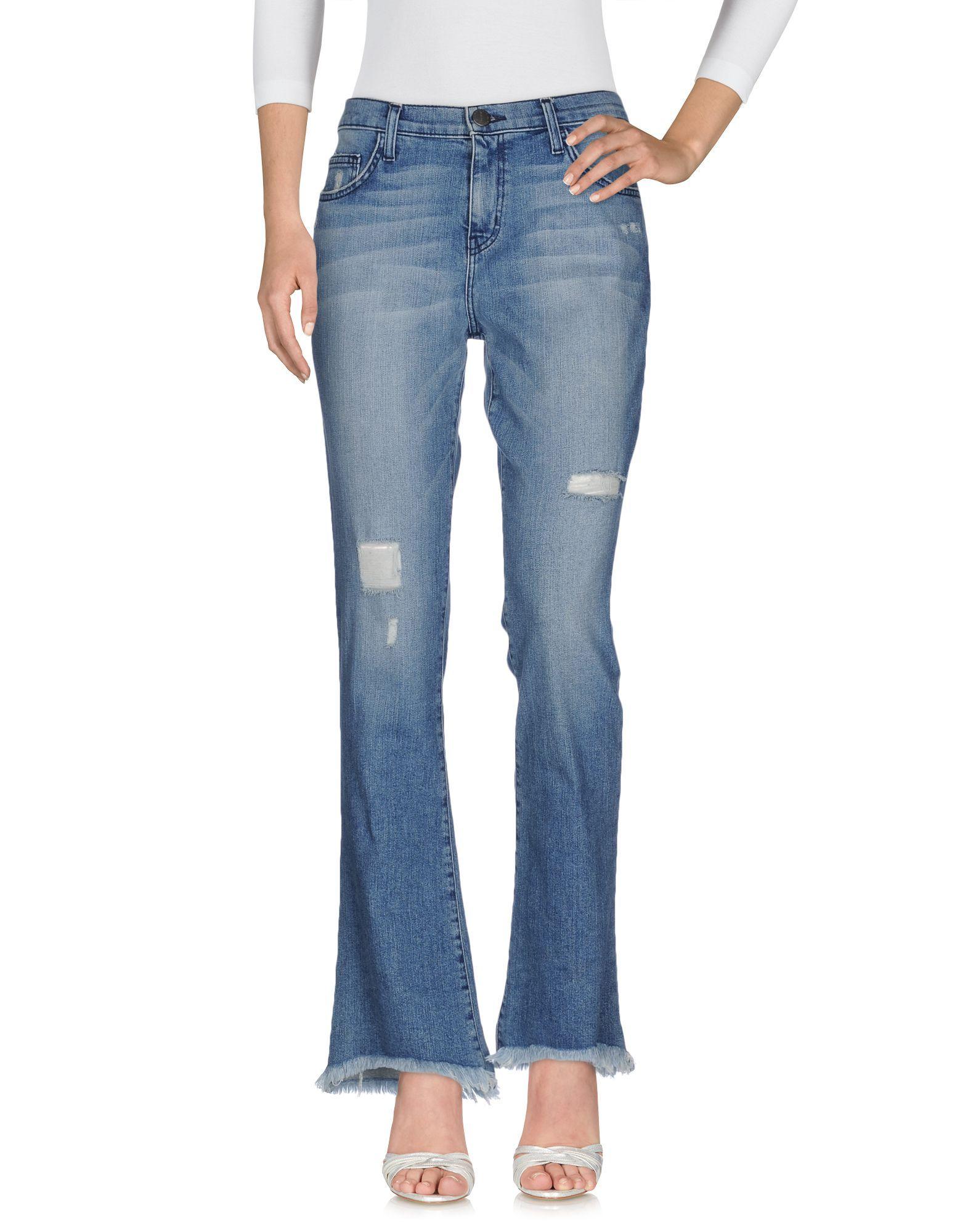 Current/Elliott Blue Cotton Bootcut Jeans
